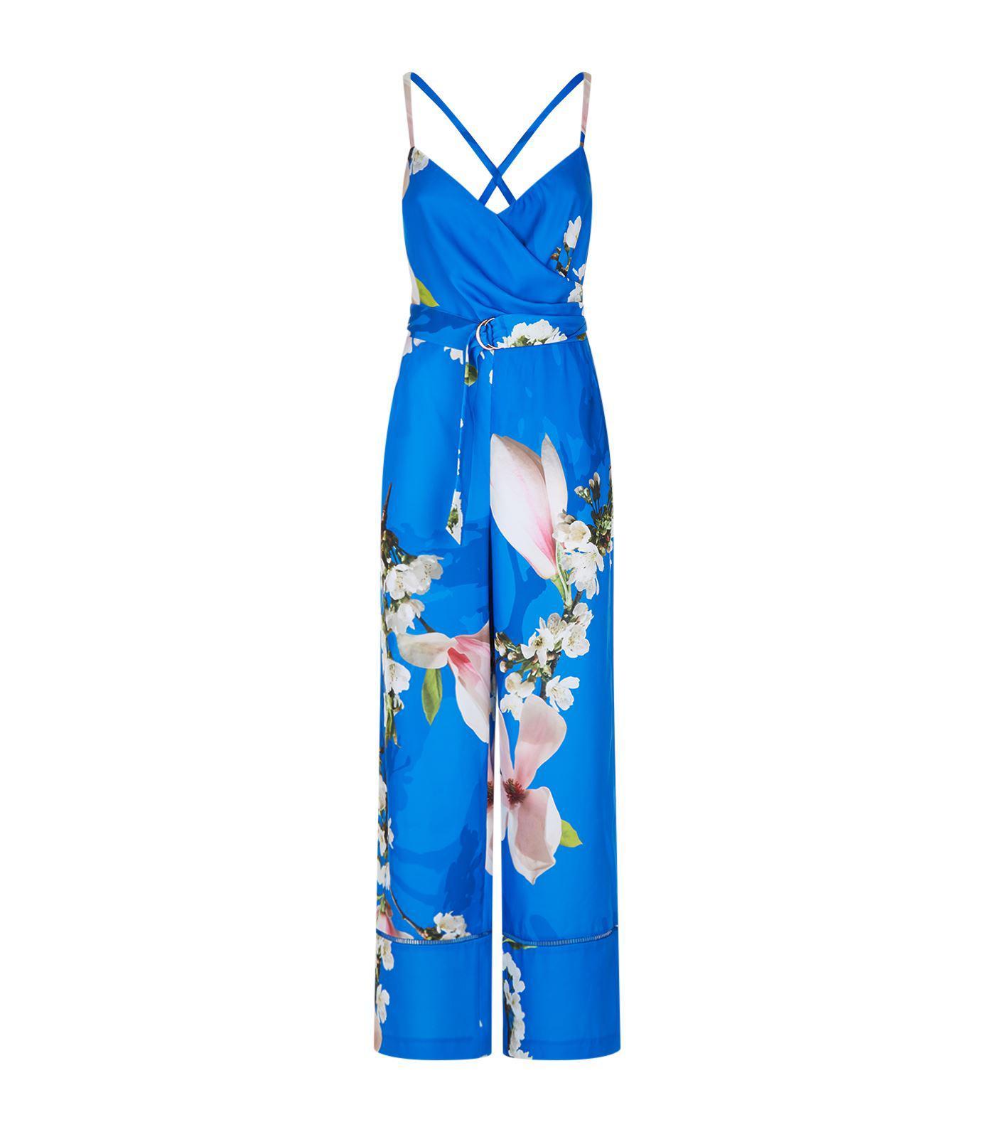 7e3cf1e2bc Ted Baker Ligita Harmony Print Jumpsuit in Blue - Lyst