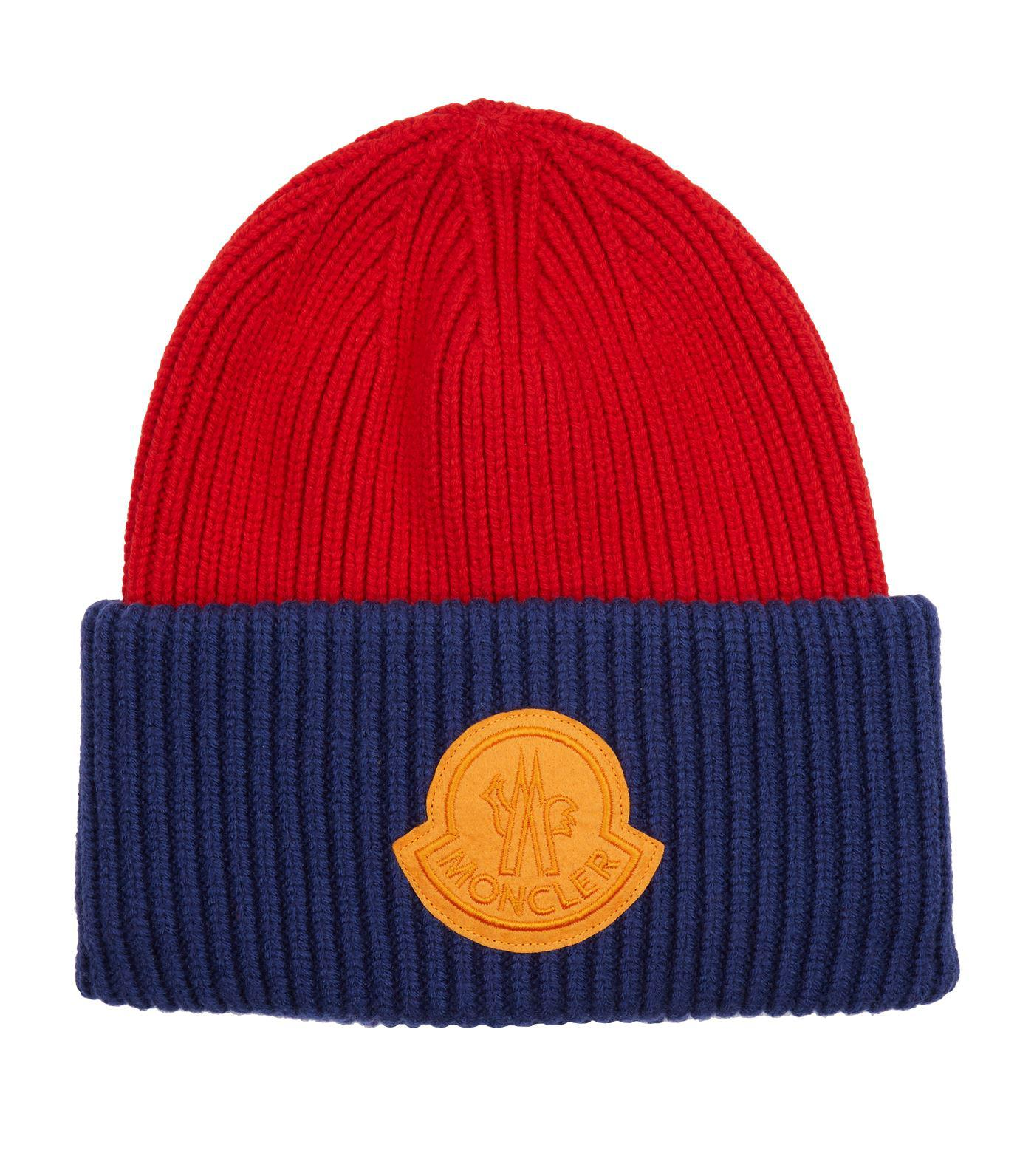 1df0def0f Moncler Knitted Cap in Blue for Men - Lyst