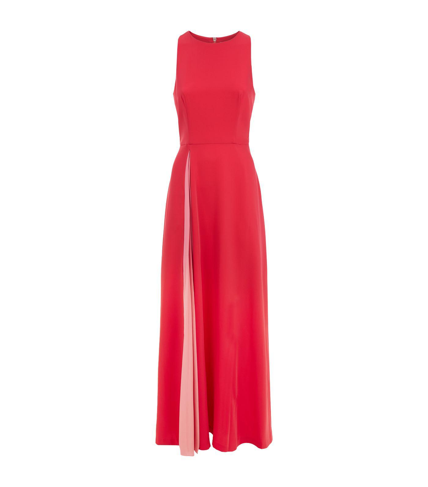 1fbd83132b9ef4 Ted Baker Madizon Contrast Pleat Maxi Dress in Pink - Lyst