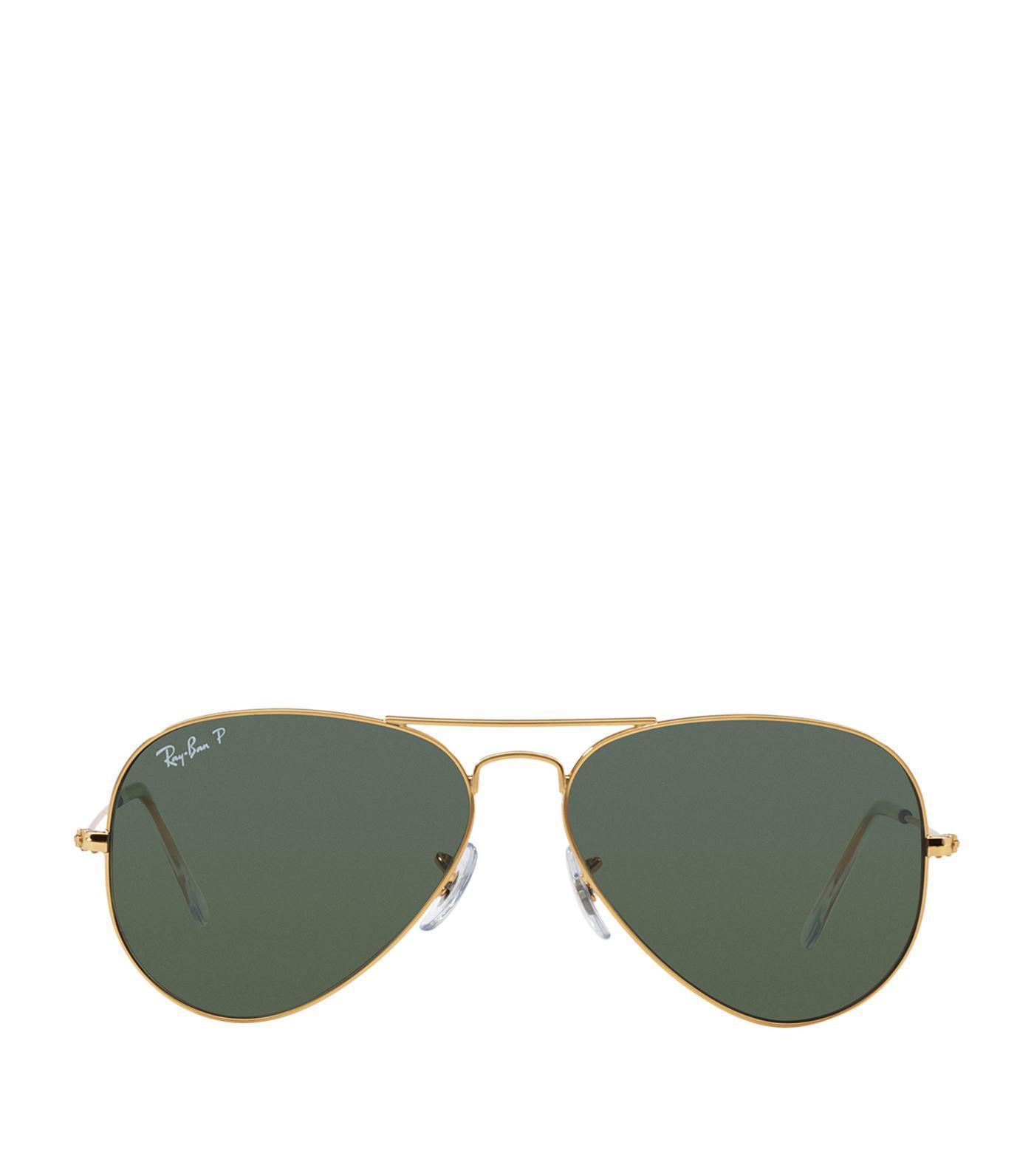 db302cffad Ray-Ban Aviator Sunglasses in Metallic - Save 59% - Lyst