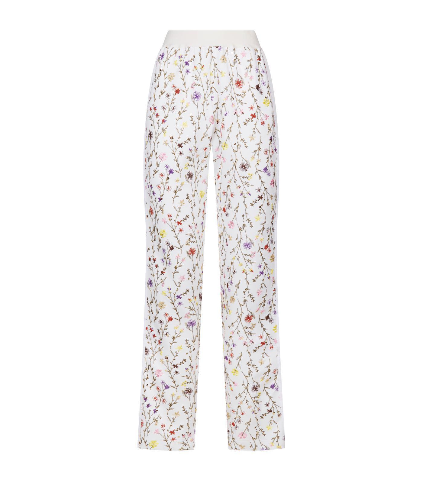 947e45c7a563 Lyst - Giambattista Valli Floral Embroidered Sweatpants in White