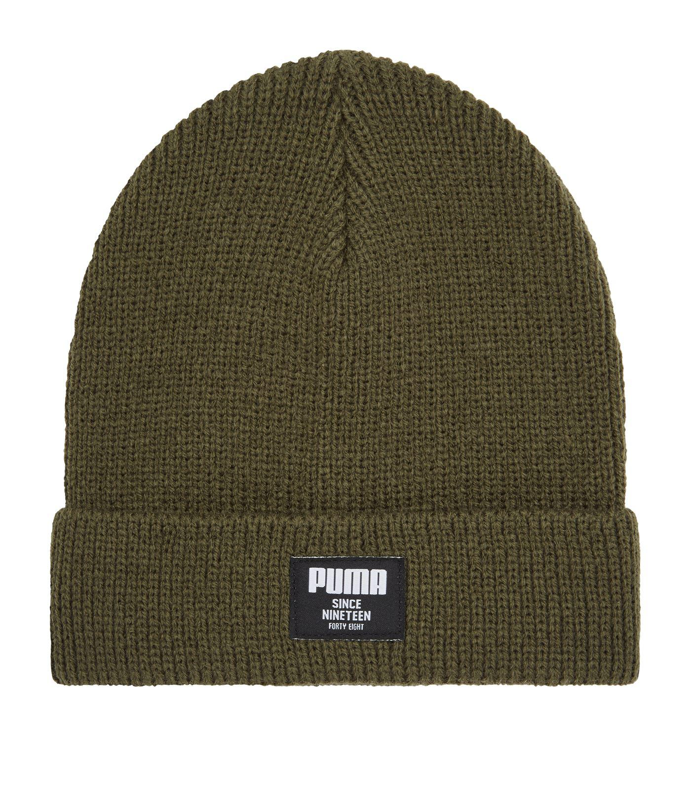 df8a41485ea Lyst - PUMA Classic Ribbed Beanie Hat in Green for Men