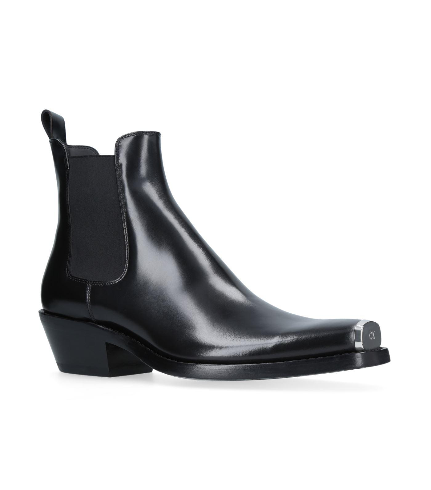 2f4591dcac8 Calvin Klein Show Western Chris Boots, Black, It 42.5 in Black - Lyst