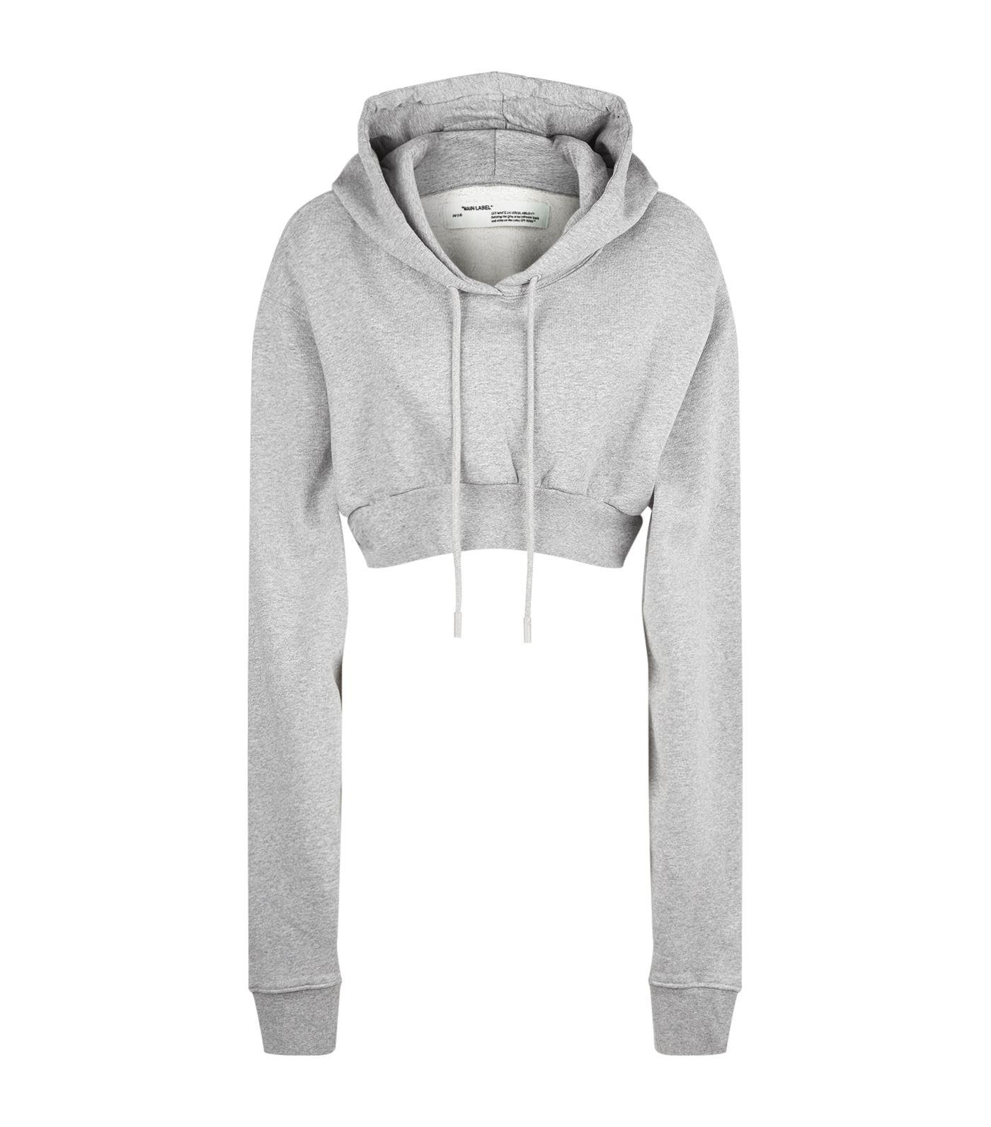 b1eb52fe1833 Lyst - Off-White c o Virgil Abloh Cropped Hoodie in Gray