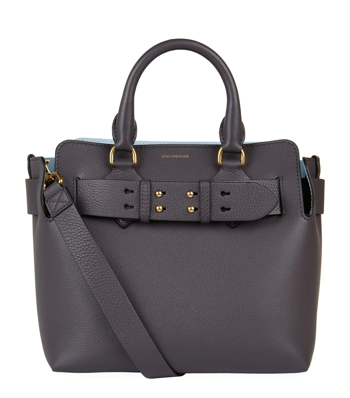 92e4b101dc13 Lyst - Burberry The Small Leather Belt Bag in Gray - Save 30%