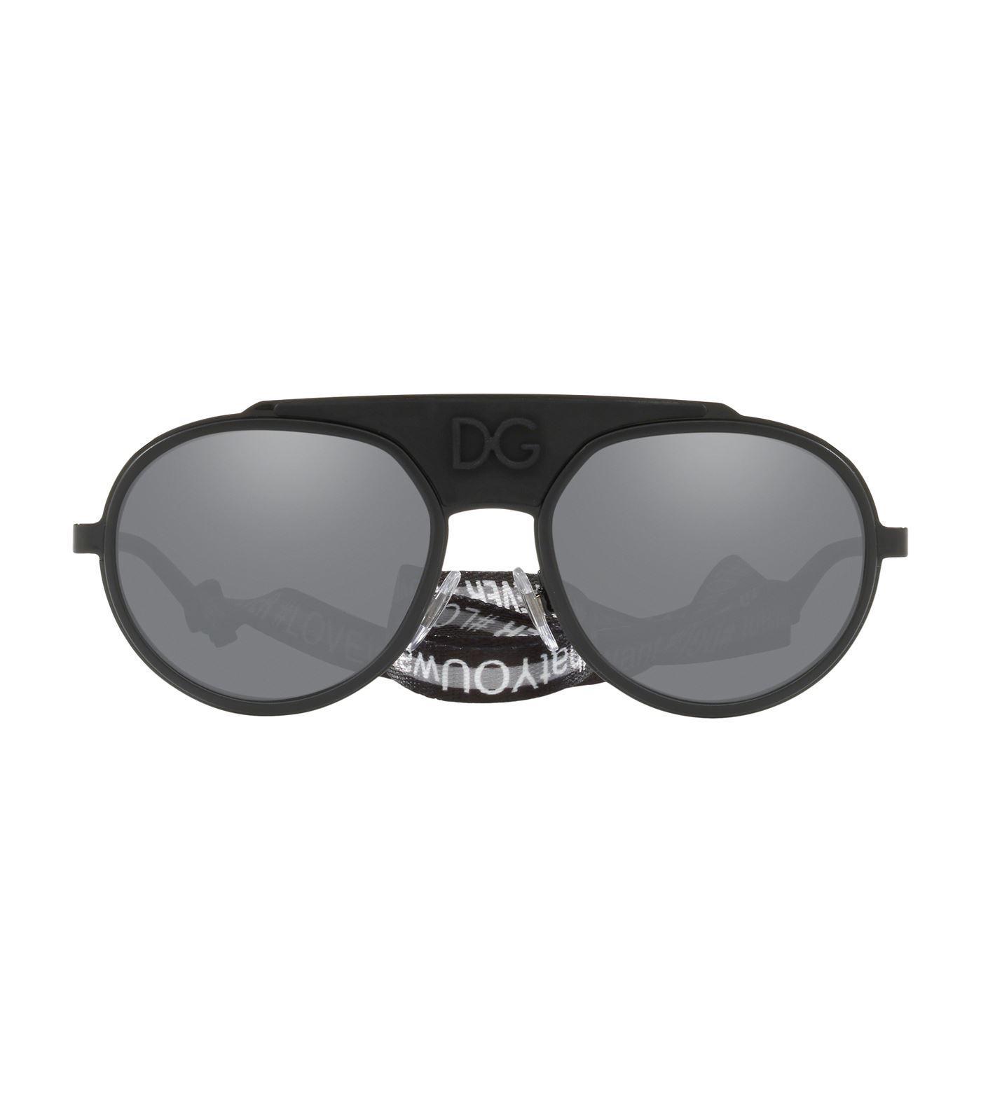 206694fe16b Lyst - Dolce   Gabbana Phantos Goggle Sunglasses in Black for Men