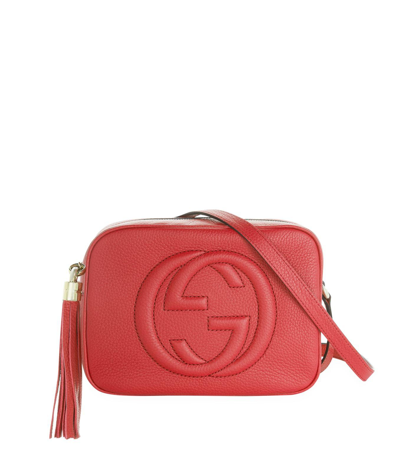 d8a14868130c Lyst - Gucci Soho Small Leather Disco Bag in Metallic - Save 25%