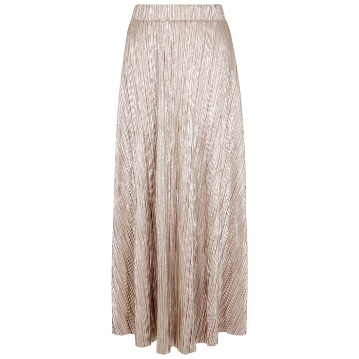 c7fb661943717 Free People High Holiday Lamé Midi Skirt in Pink - Lyst