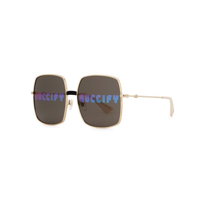 fc2b4a4e499 Gucci. Women s Metallic Gold-tone Metal Sunglasses. £372 From Harvey Nichols