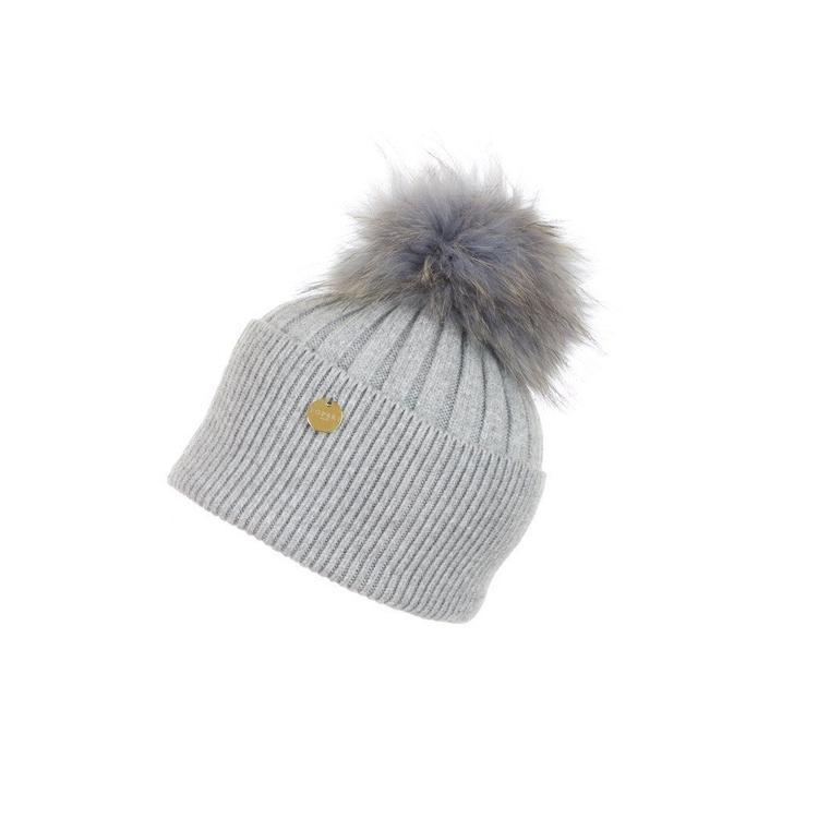 5a382de6069 Popski London Angora Pom Pom Hat in Gray - Lyst