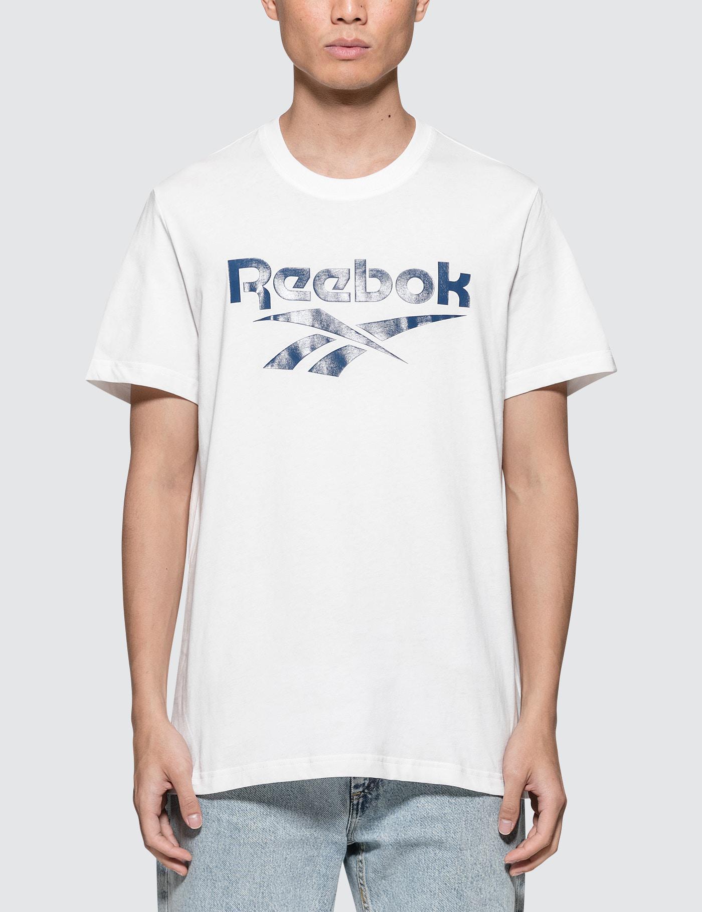 Reebok. Men's White Vector S/s T-shirt