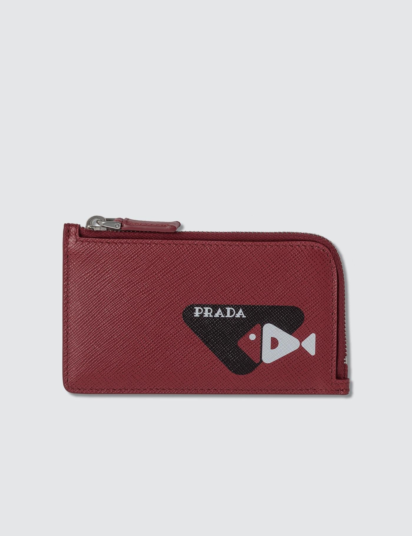 6a6b2d0769a4 Lyst - Prada Zip Wallet in Red for Men