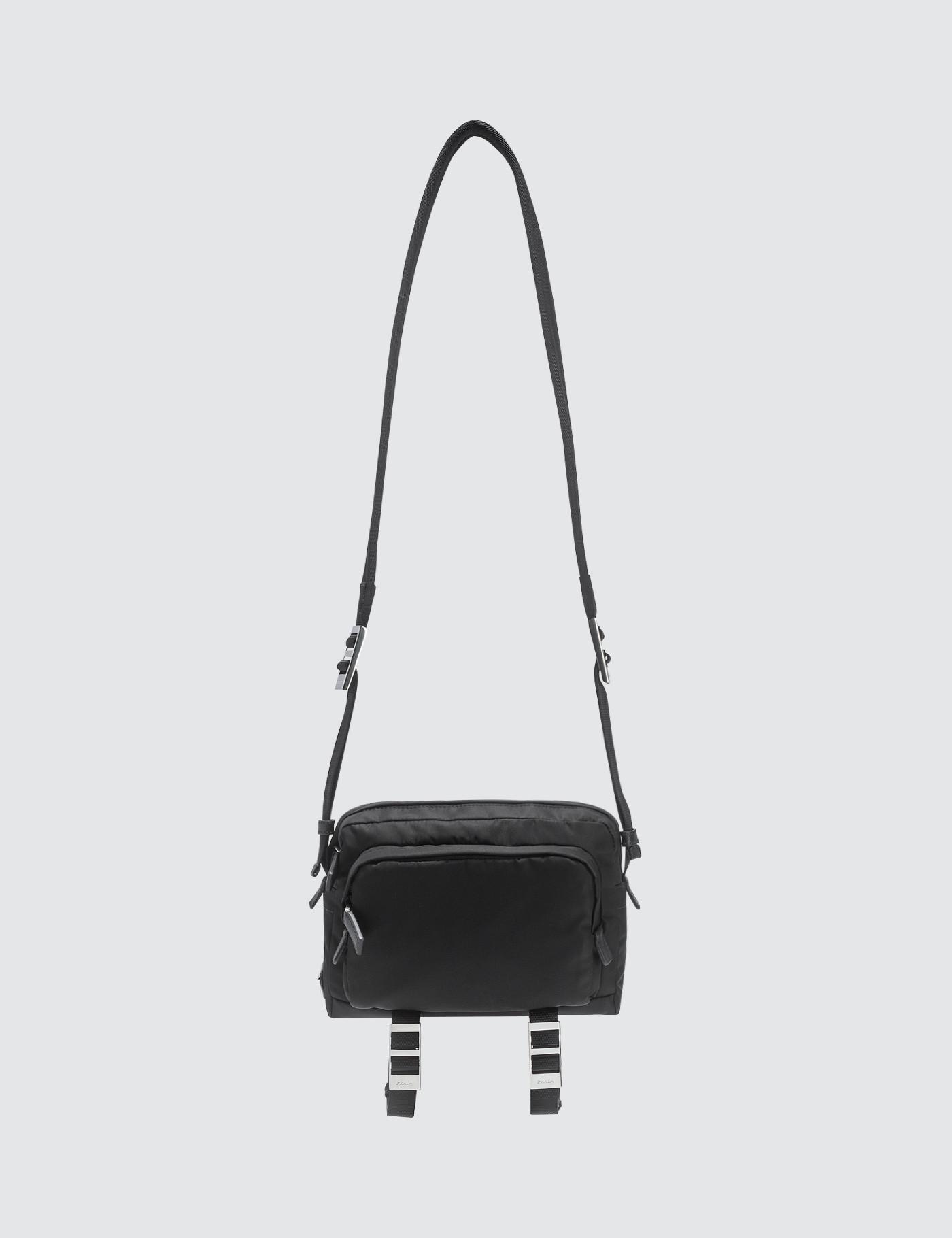 Lyst - Prada Camera Bag With Logo in Black for Men - Save 5% 205b4e66445f1