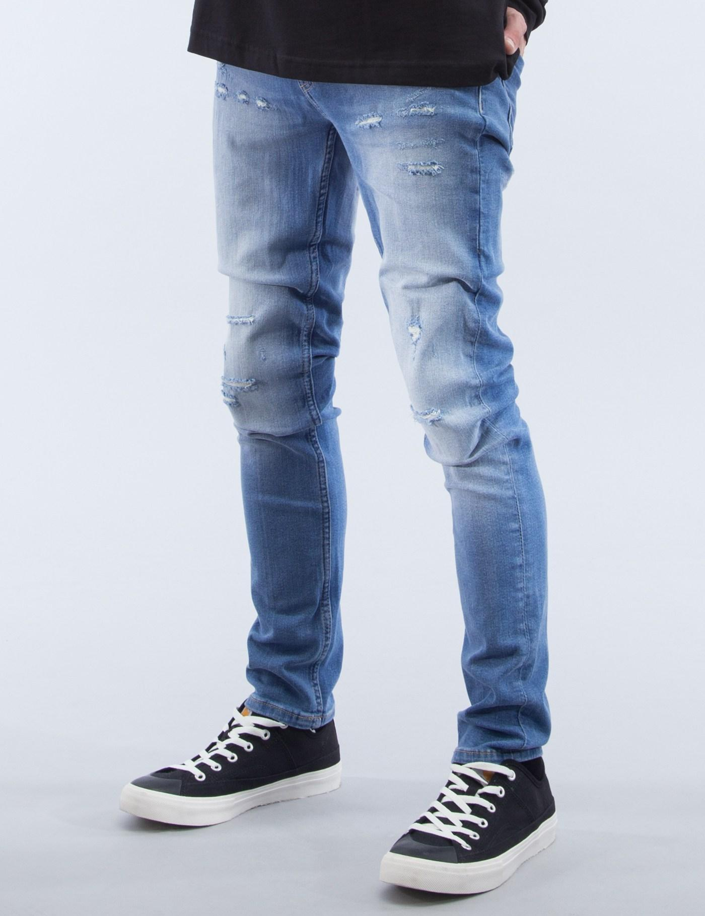 cheap monday tight jeans in blue for men lyst. Black Bedroom Furniture Sets. Home Design Ideas