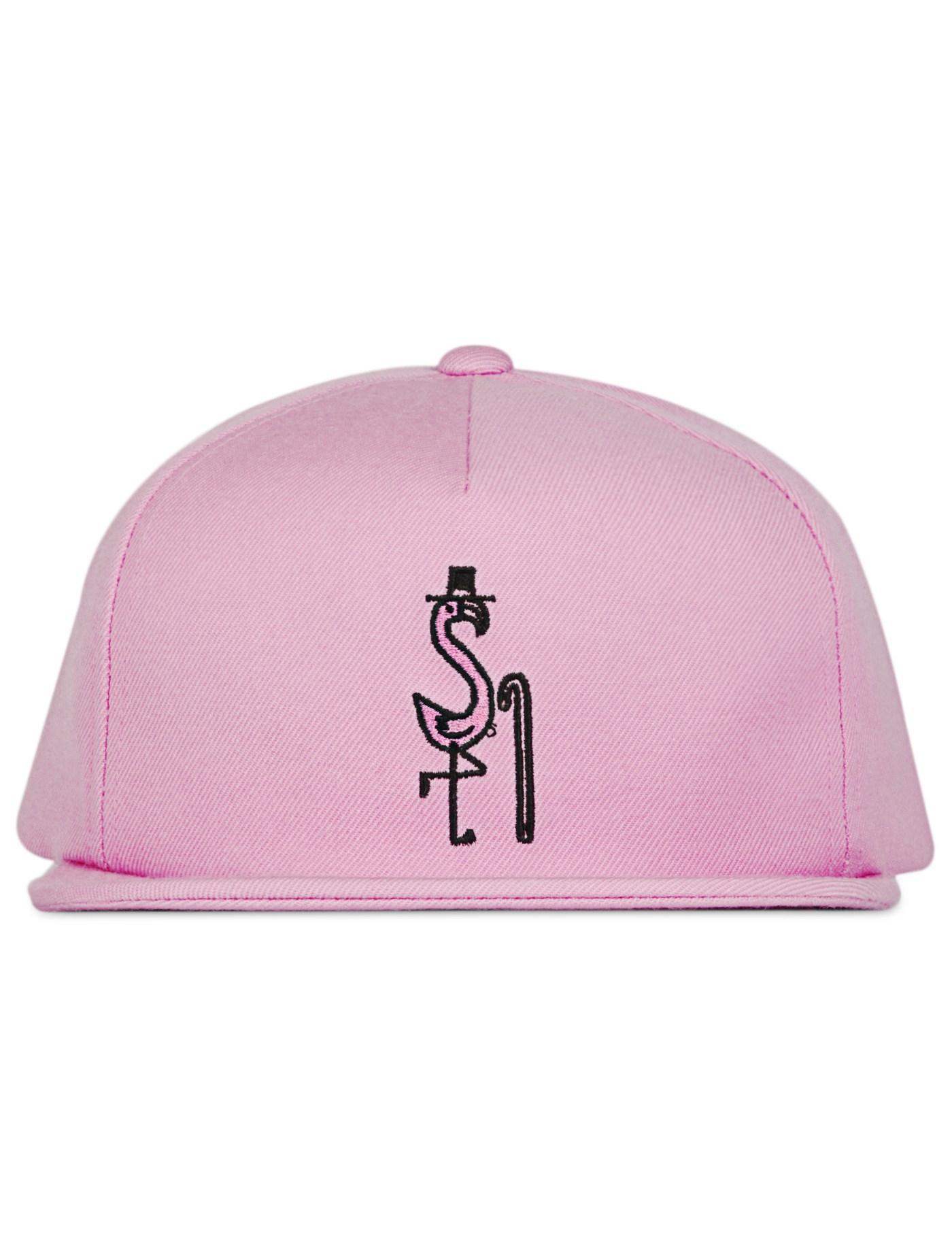 Dc Hbx Lyst Stussy Flamingo Cap In Pink