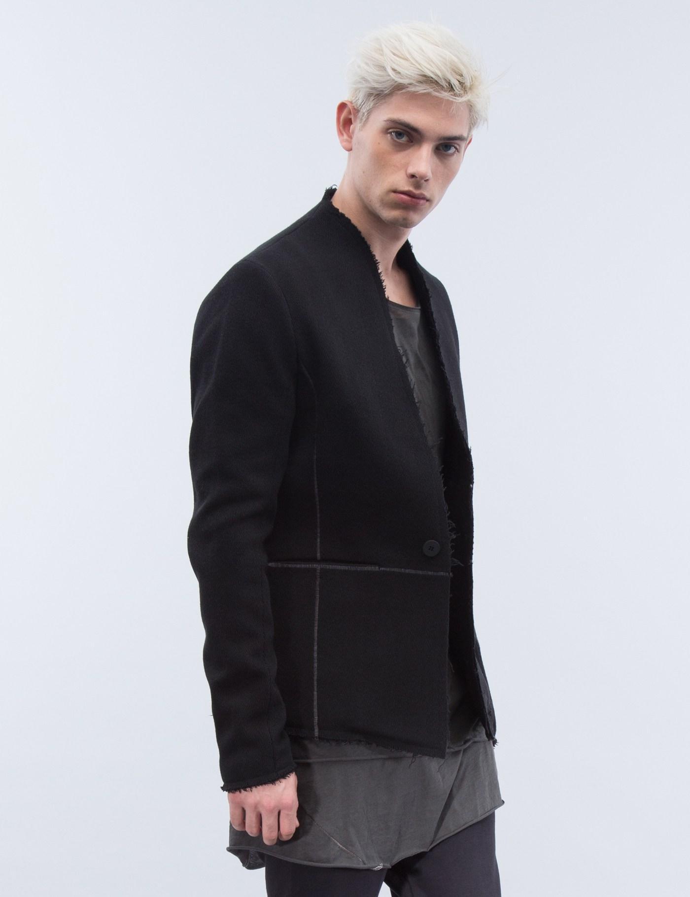 Thom krom Raw Edge Line Detail Blazer in Brown for Men