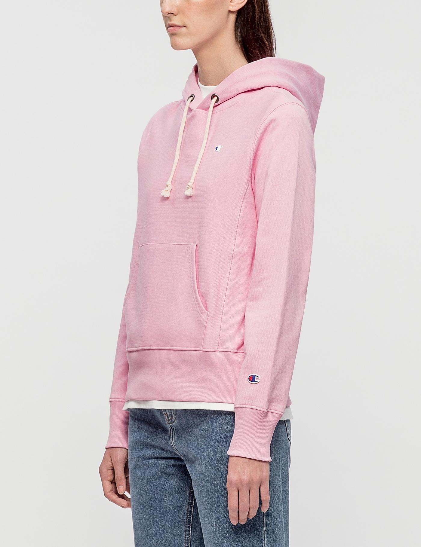 Lyst Champion Small Logo Hoodie In Pink
