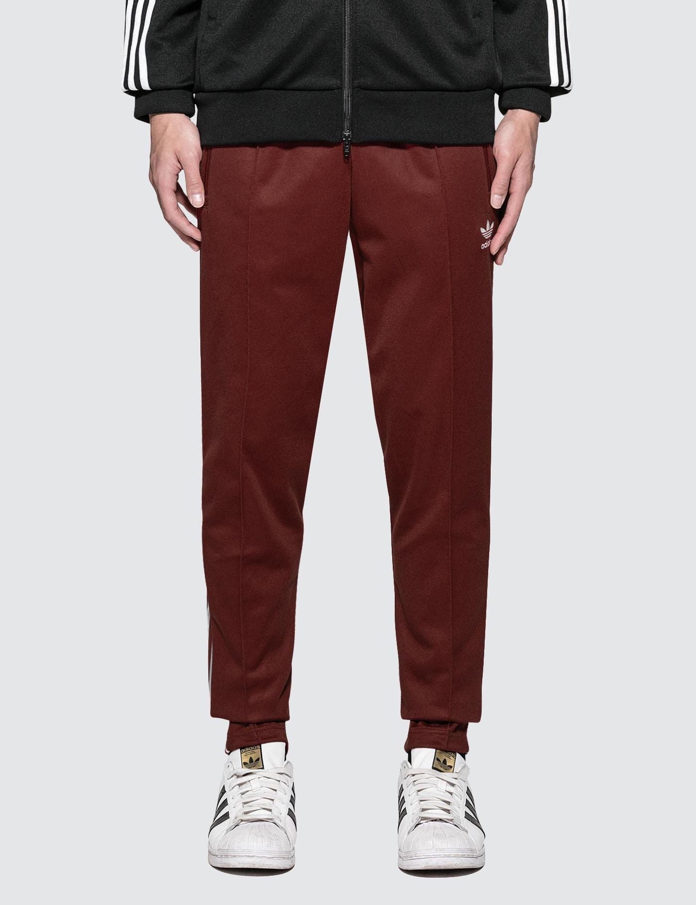 ff4e37a3e8ce Lyst - adidas Originals Beckenbauer Trackpants in Red for Men