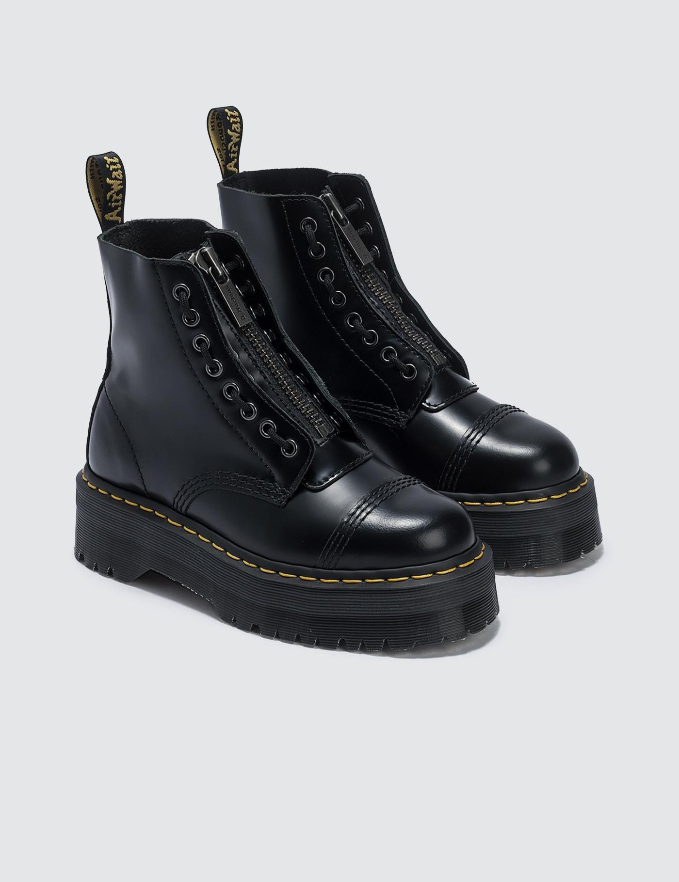 7ecb64012ed2 Lyst - Dr. Martens Sinclair Black Polished Smooth in Black