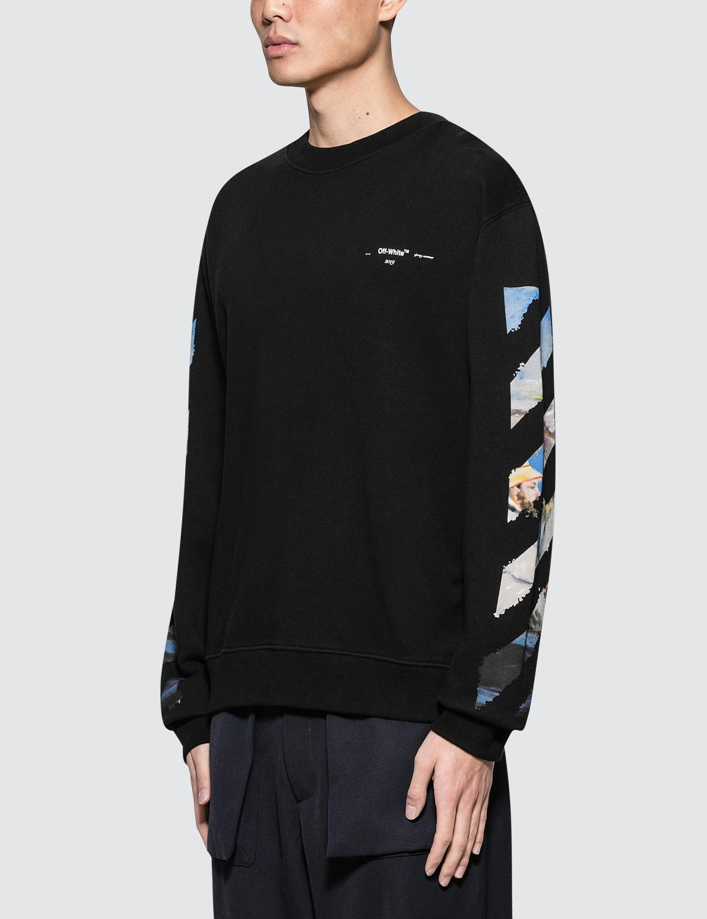 7e07aae1a3e5 Lyst - Off-White c o Virgil Abloh Diag Colored Arrows Slim Sweatshirt in  Black for Men
