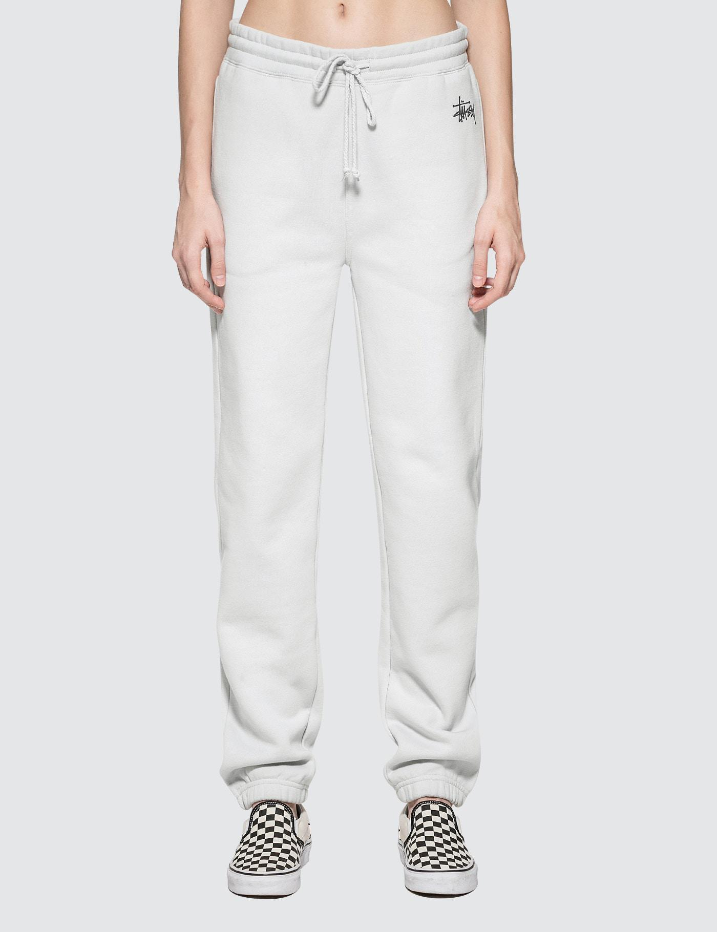 Dc Hbx Lyst Stussy Basic Sweatpant In White