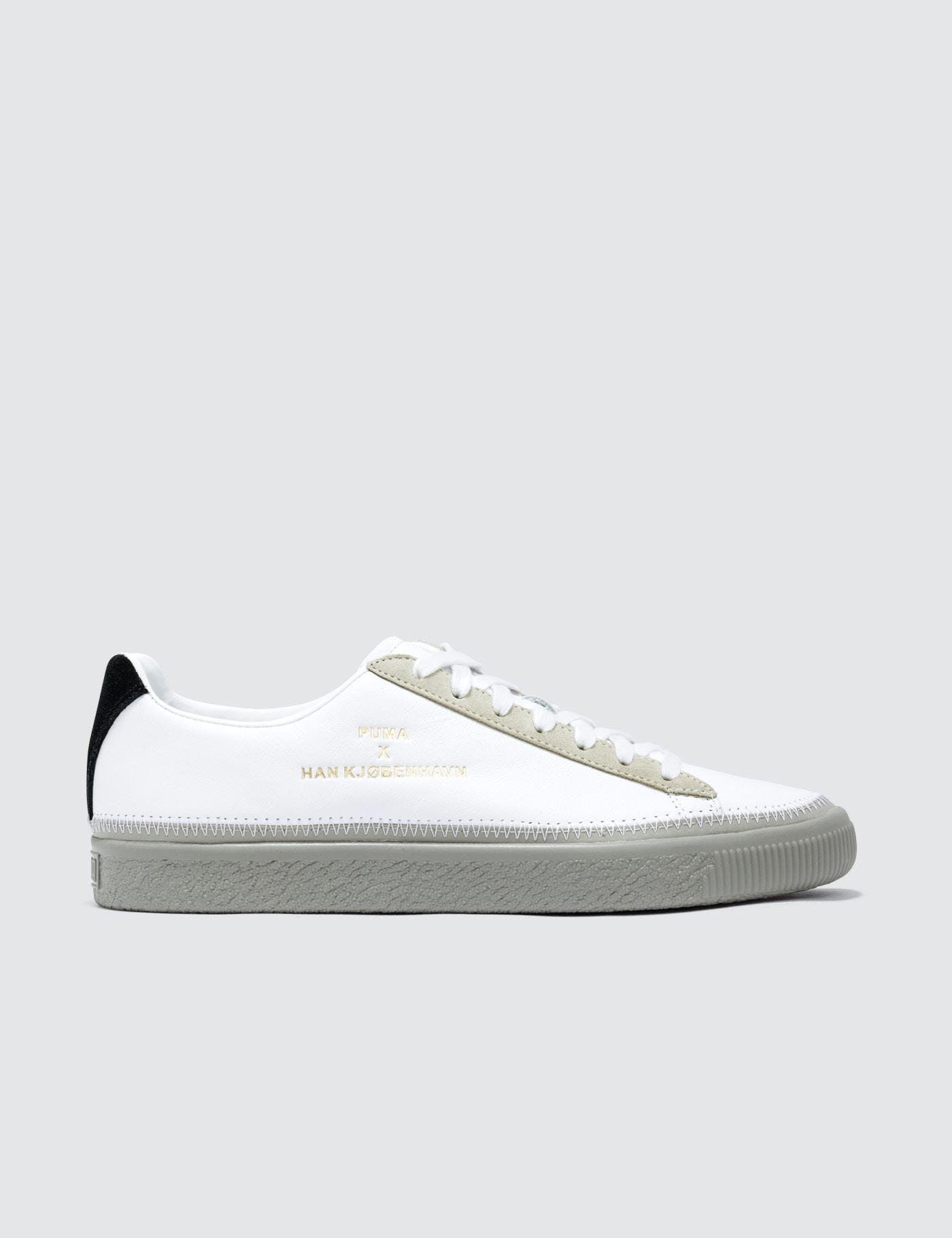 7888eae9fd5 Lyst - PUMA Clyde Stitched Han in White for Men