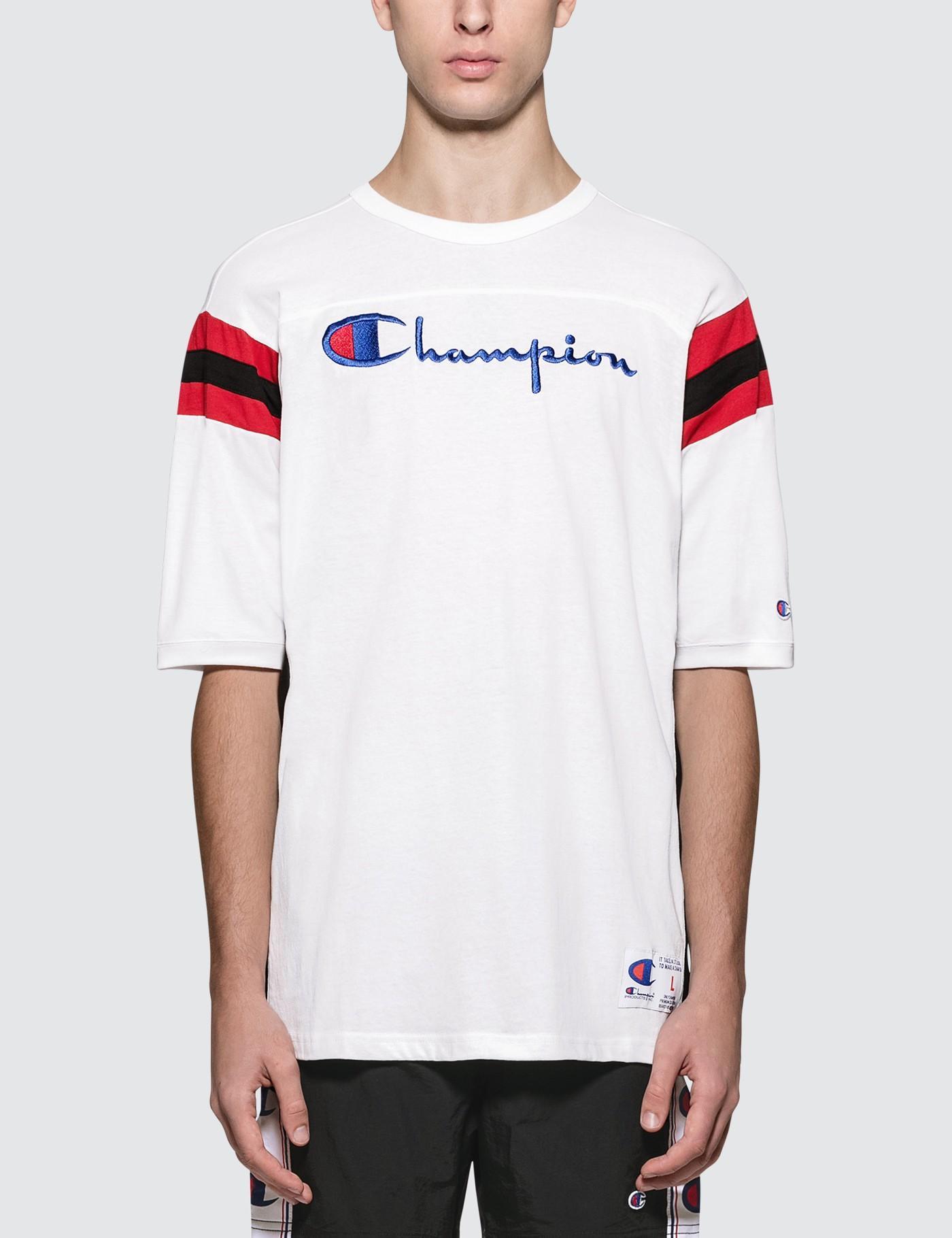 8c9706ba Lyst - Champion American Fit Script Logo S/s T-shirt in White for Men