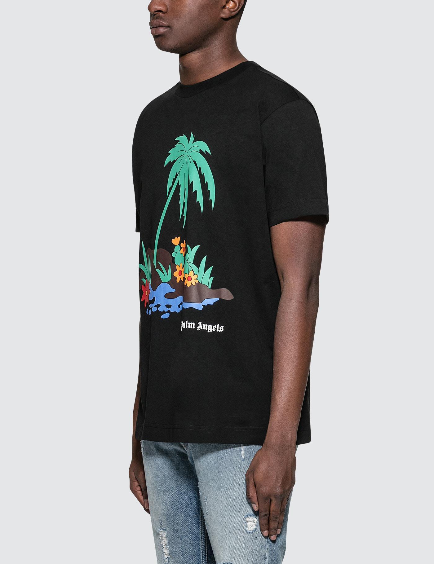 Palm Island T-shirt - Black Palm Angels Cheap Sale Perfect Outlet 100% Authentic Get Authentic Sale Online 8mPR3N