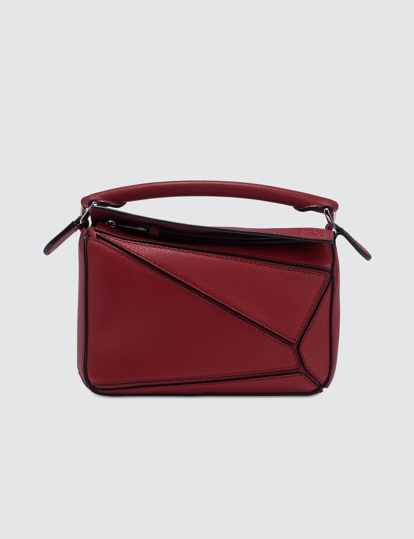 70c150782056 Loewe Puzzle Mini Bag in Red - Lyst