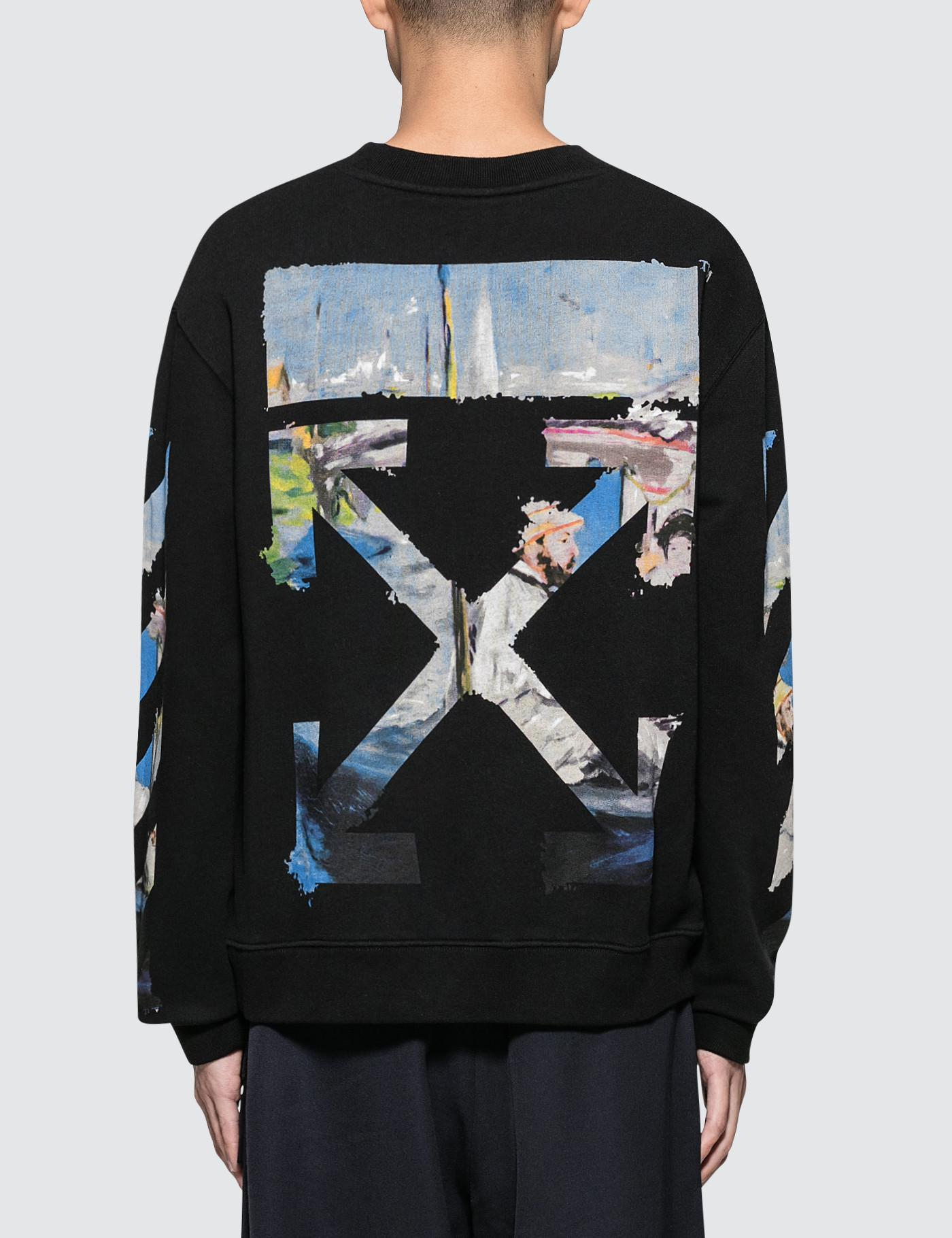 ba8381e27a7a Off-White c o Virgil Abloh. Men s Black Diag Colored Arrows Slim Sweatshirt