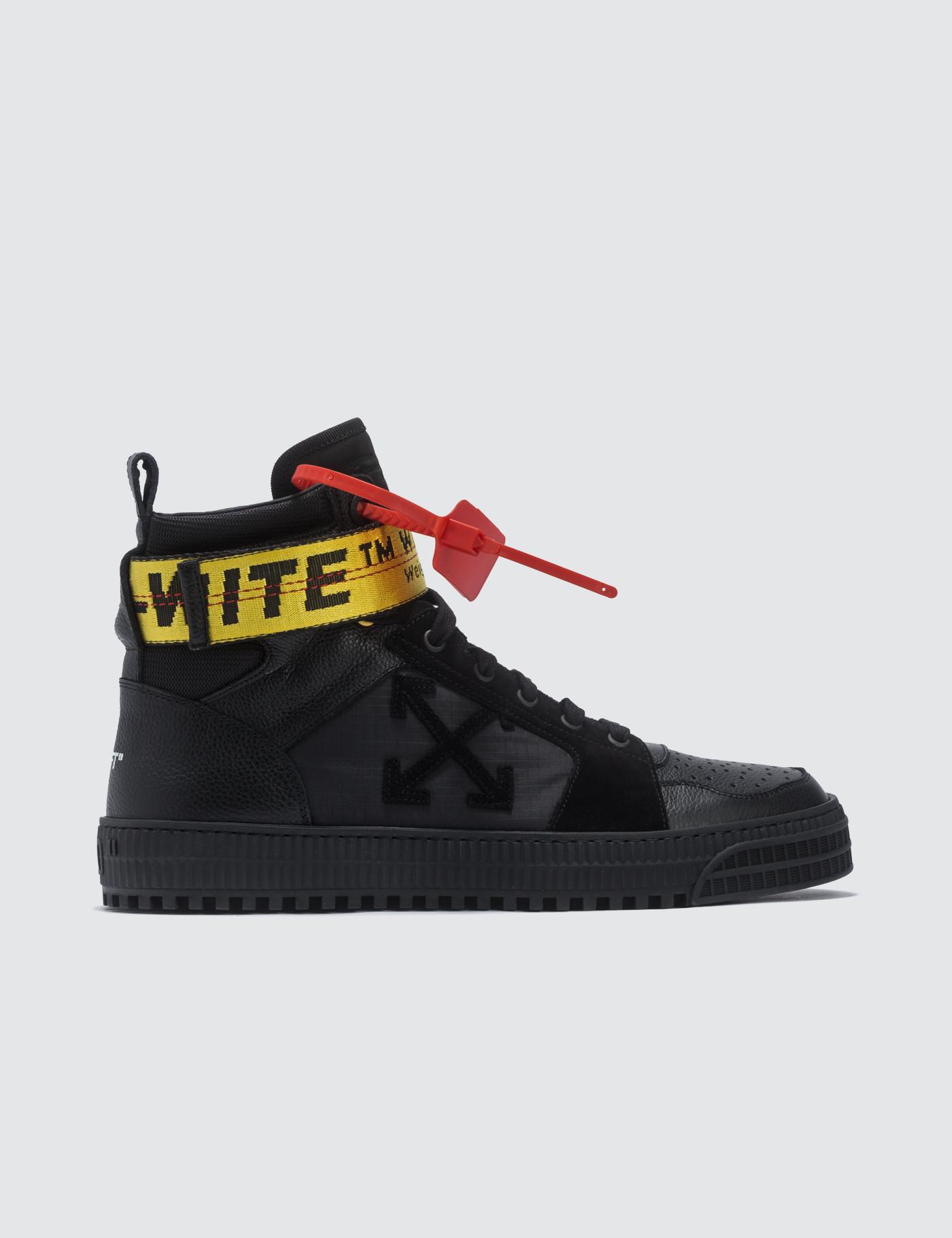 bfc2ffc6ce38 Lyst - Off-White C O Virgil Abloh Industrial Hi Top Sneaker in Black ...