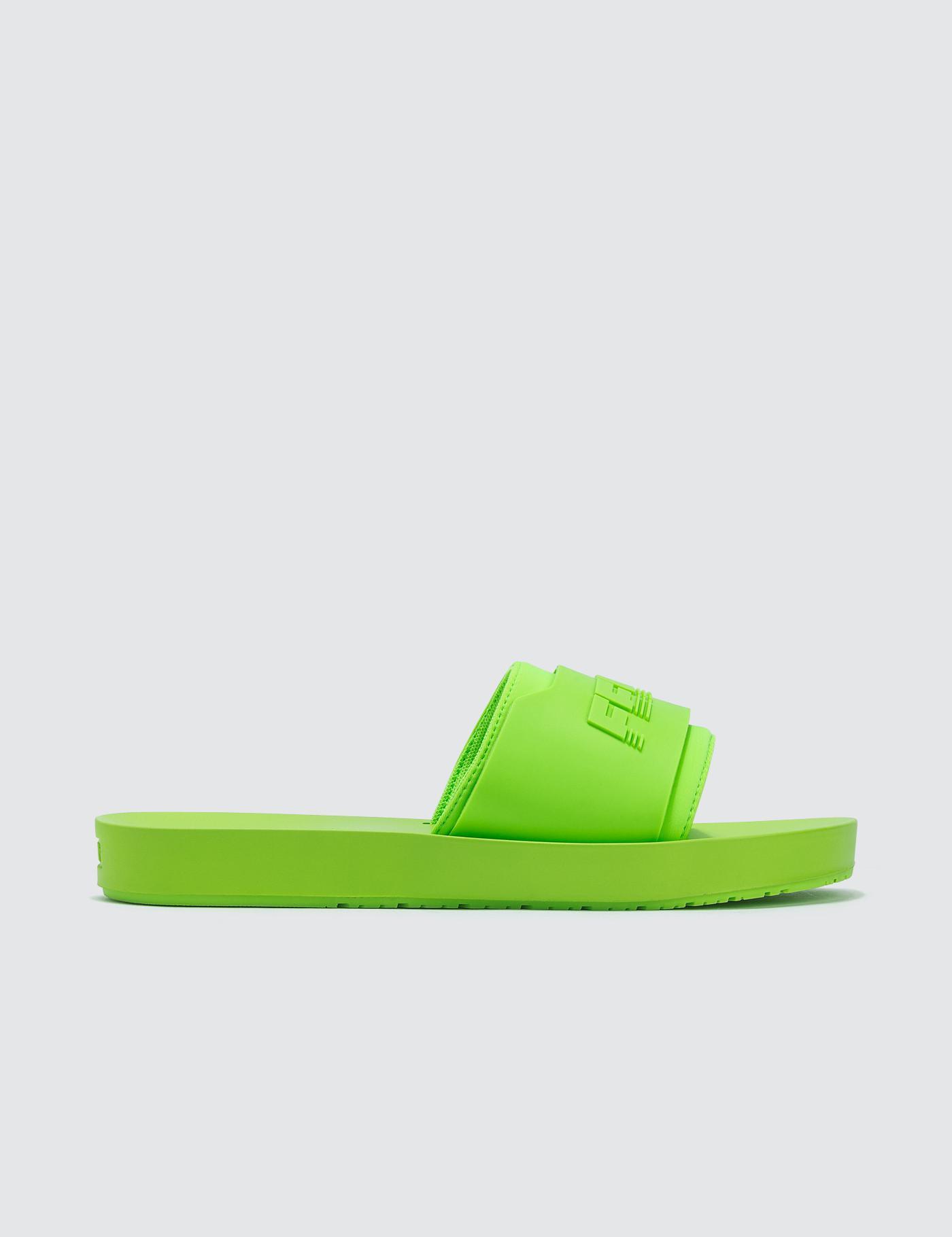 a06615c99244da Lyst - PUMA Fenty X Puma Surf Slide Green Gecko in Green - Save 64%