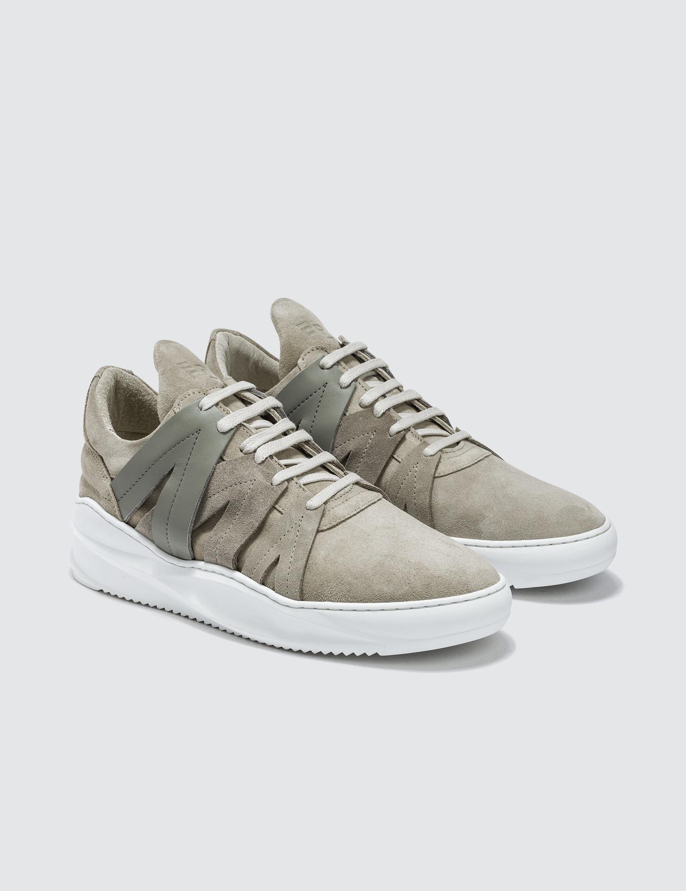 White Low Bronco Sneakers Filling Pieces pL04U1L