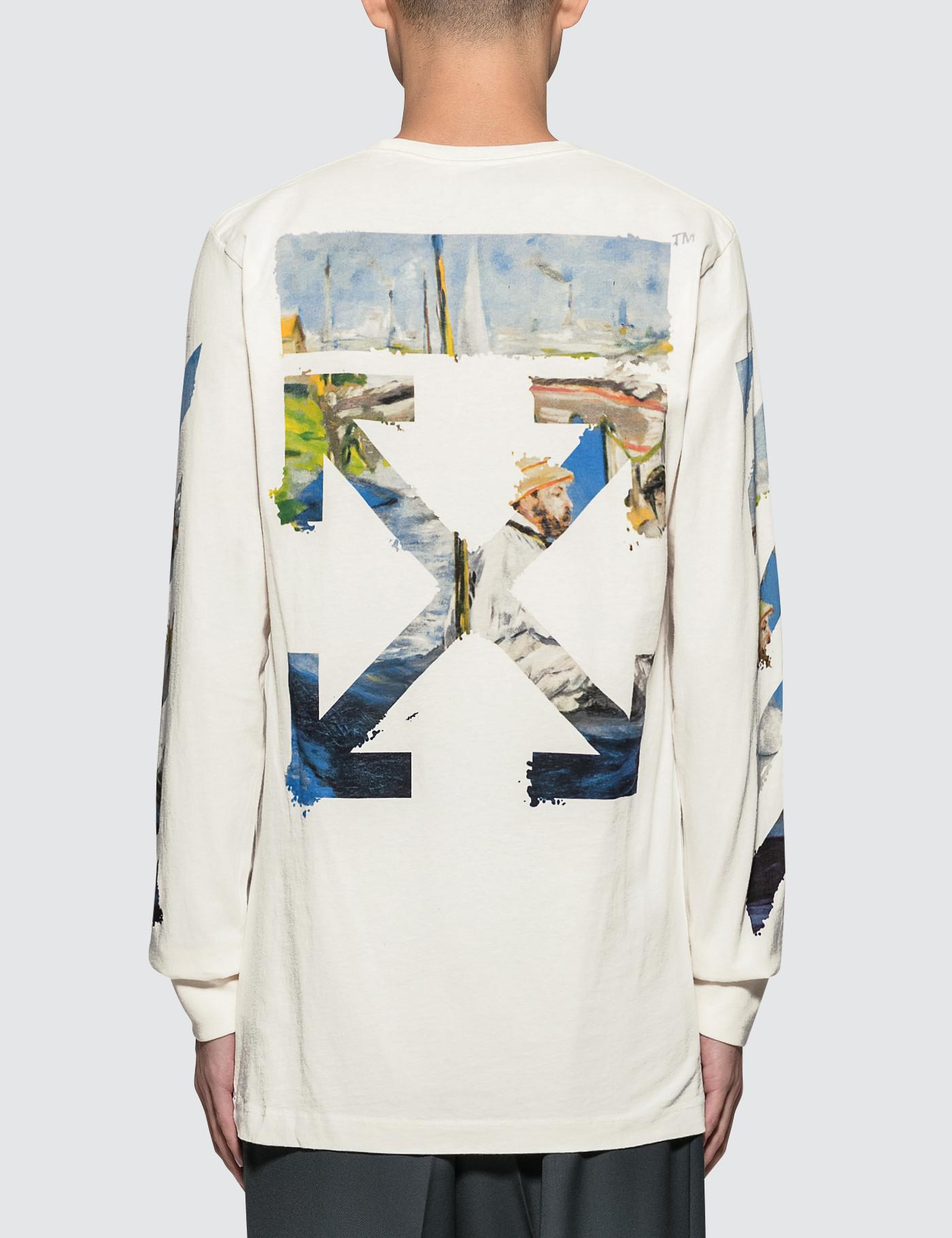 6981fa75ba7a Lyst - Off-White c o Virgil Abloh Diag Colored Arrows L s T-shirt in ...