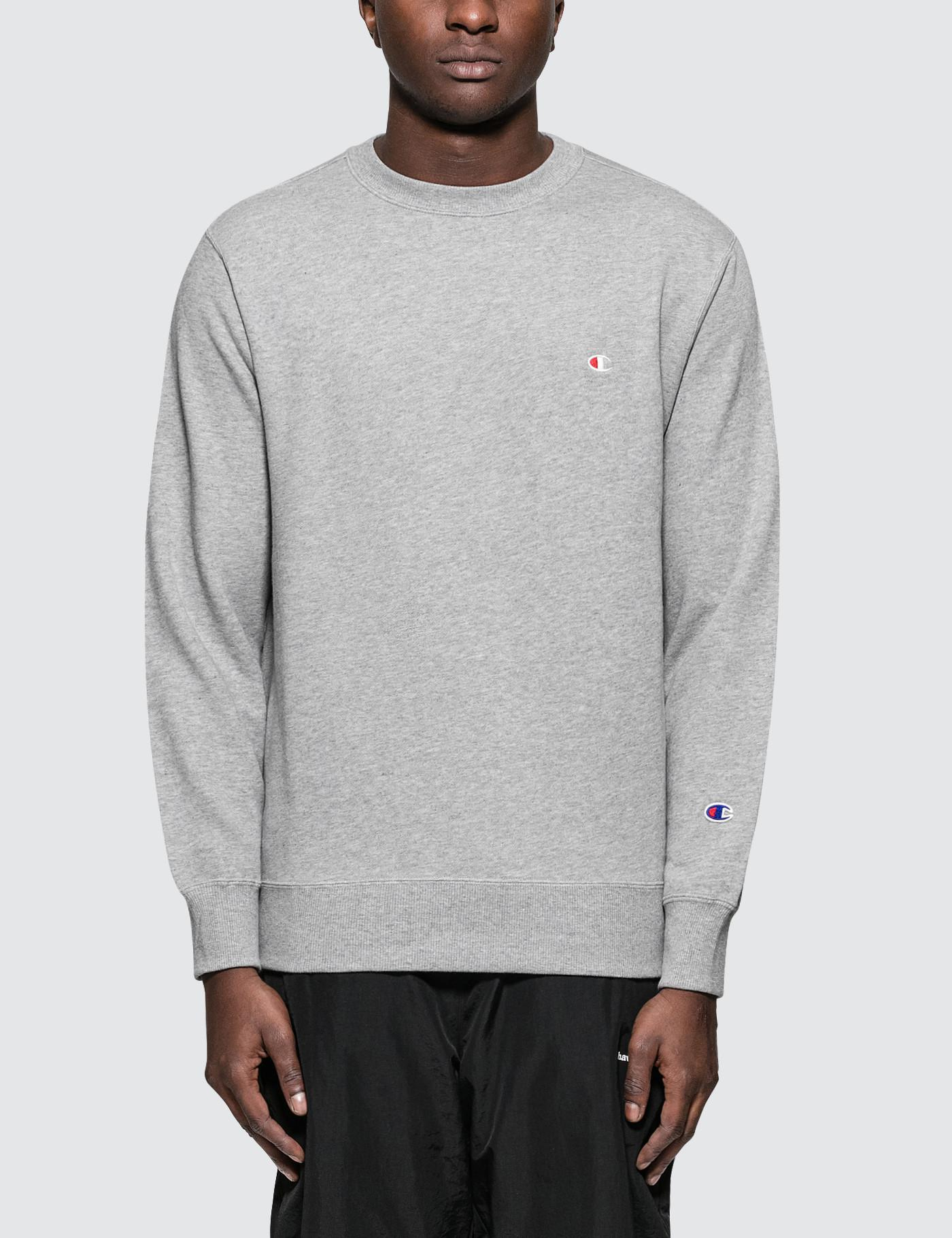bdcd6bf3 Champion Small Logo Sweatshirt in Gray for Men - Lyst