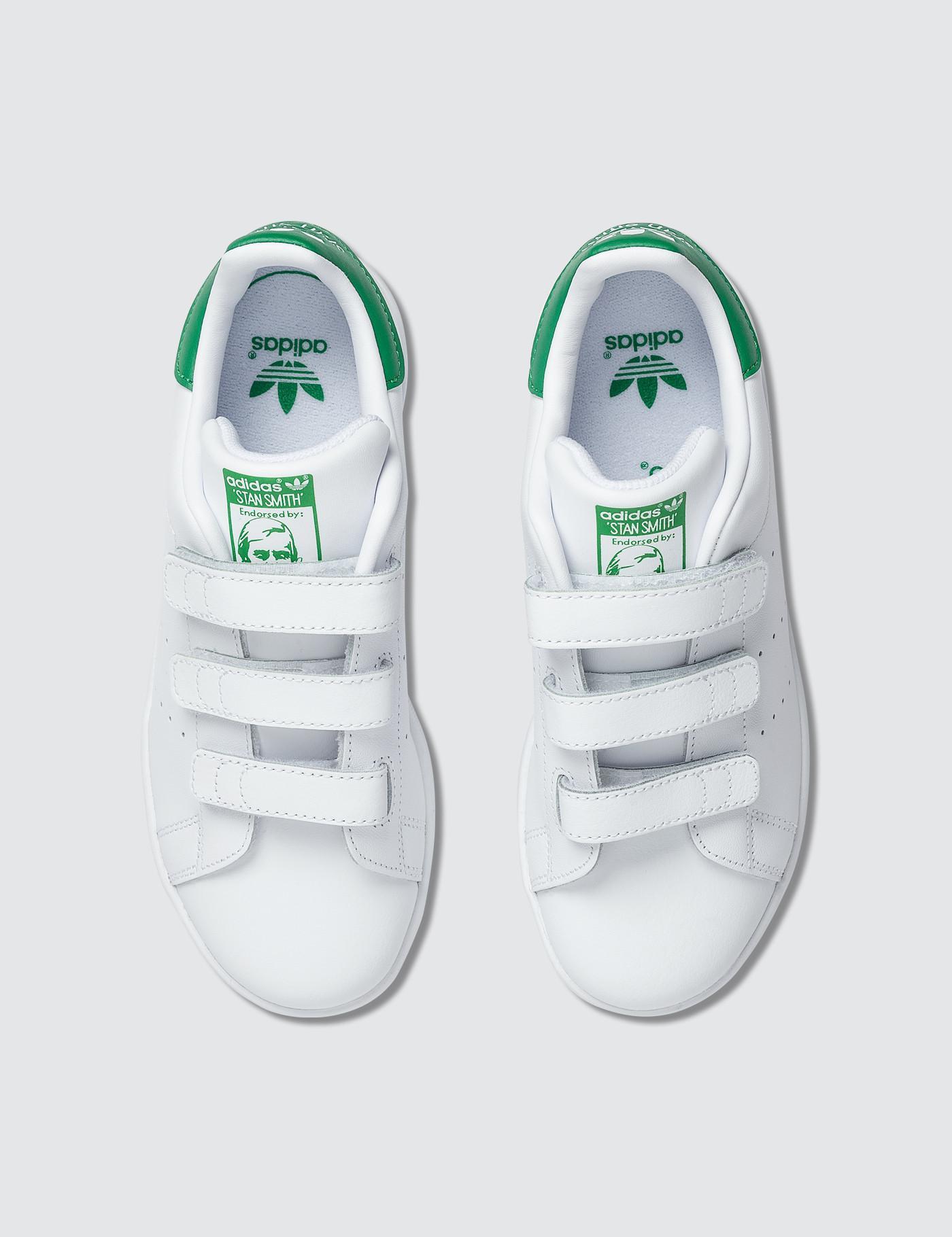 online retailer 6b5e4 7b3e3 adidas Originals Stan Smith Cf Children in White for Men - Lyst