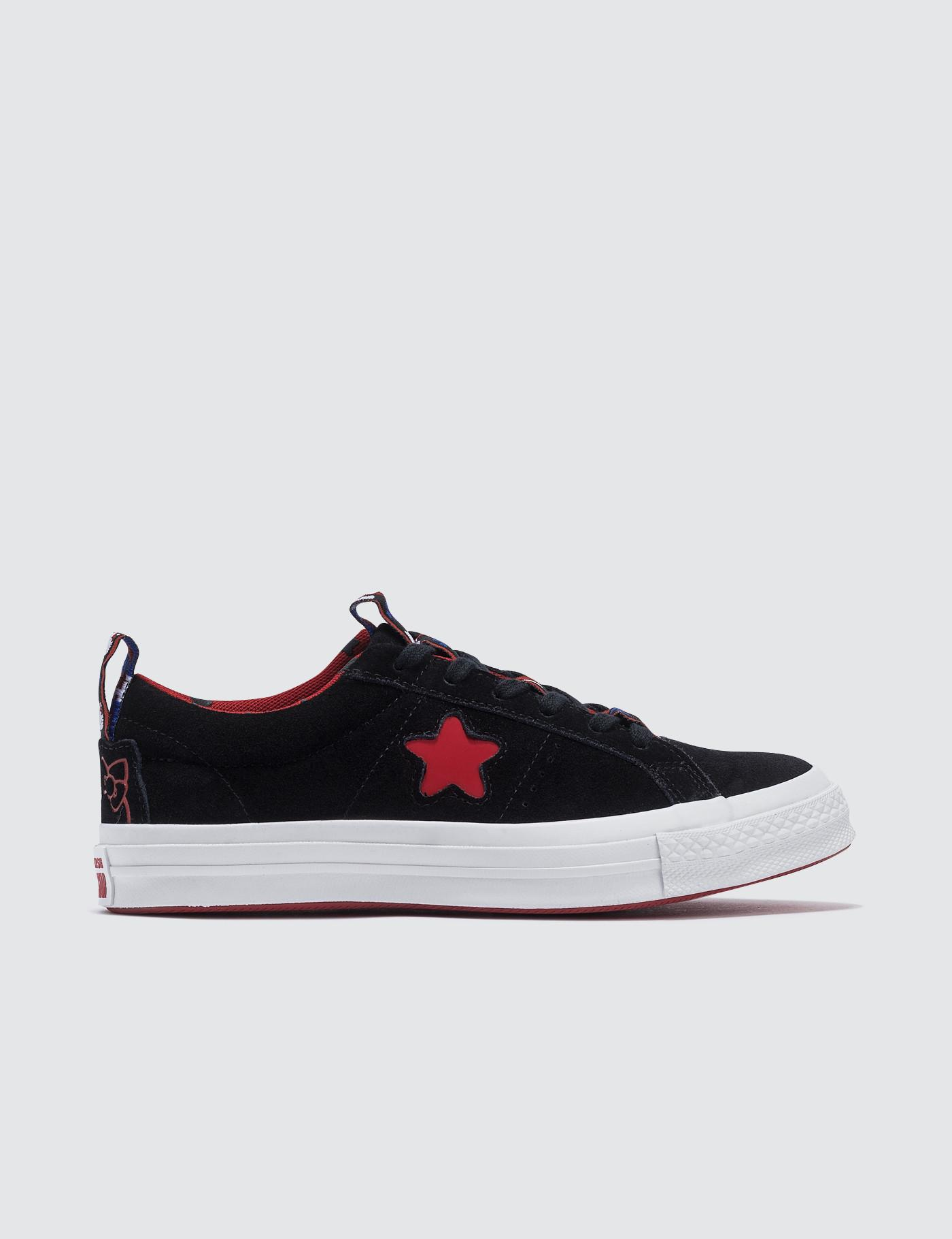 3c6d9773288d Lyst - Converse X Hello Kitty One Star Ox in Black