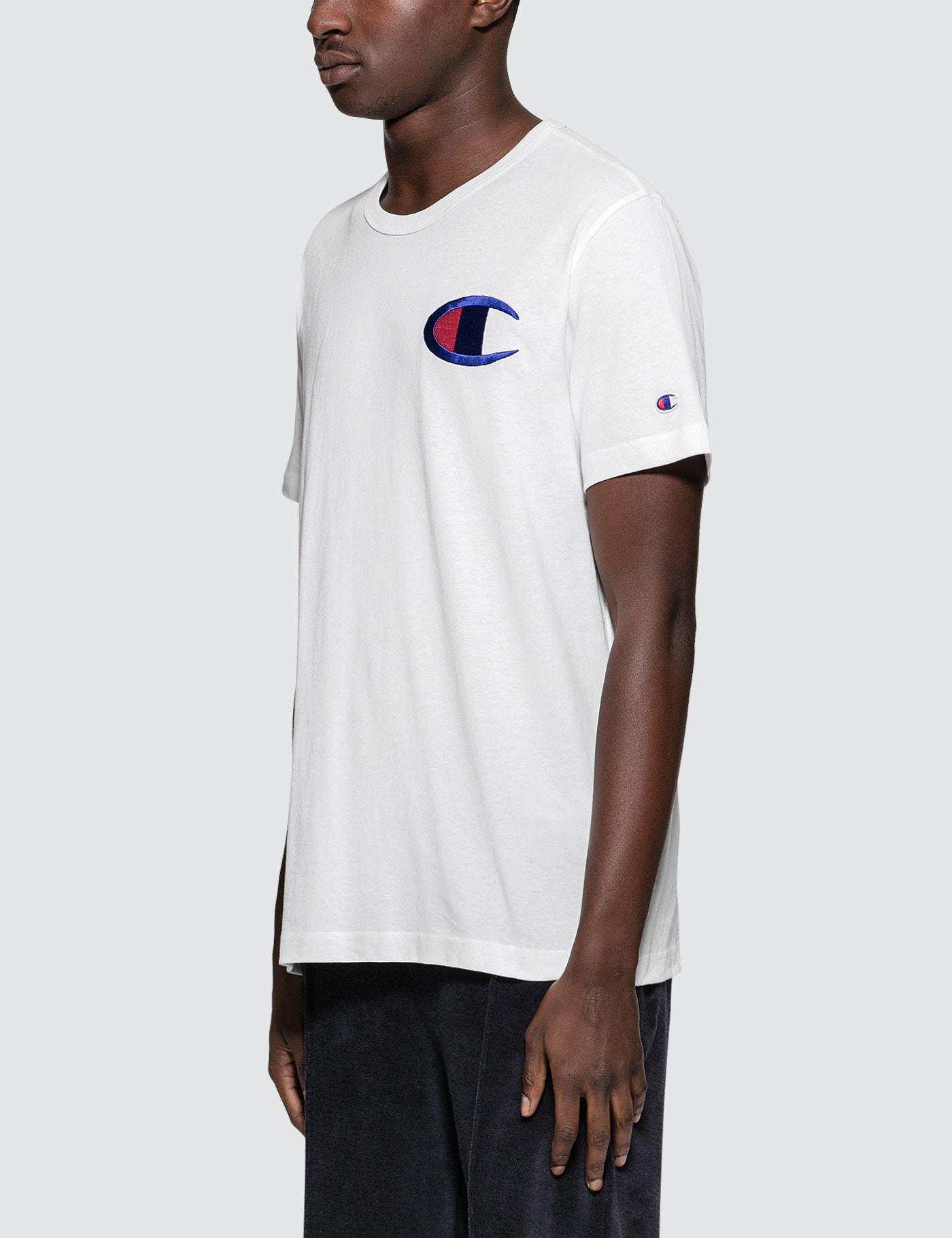 f5642727ea26 Champion Big Logo S/s T-shirt in White for Men - Lyst