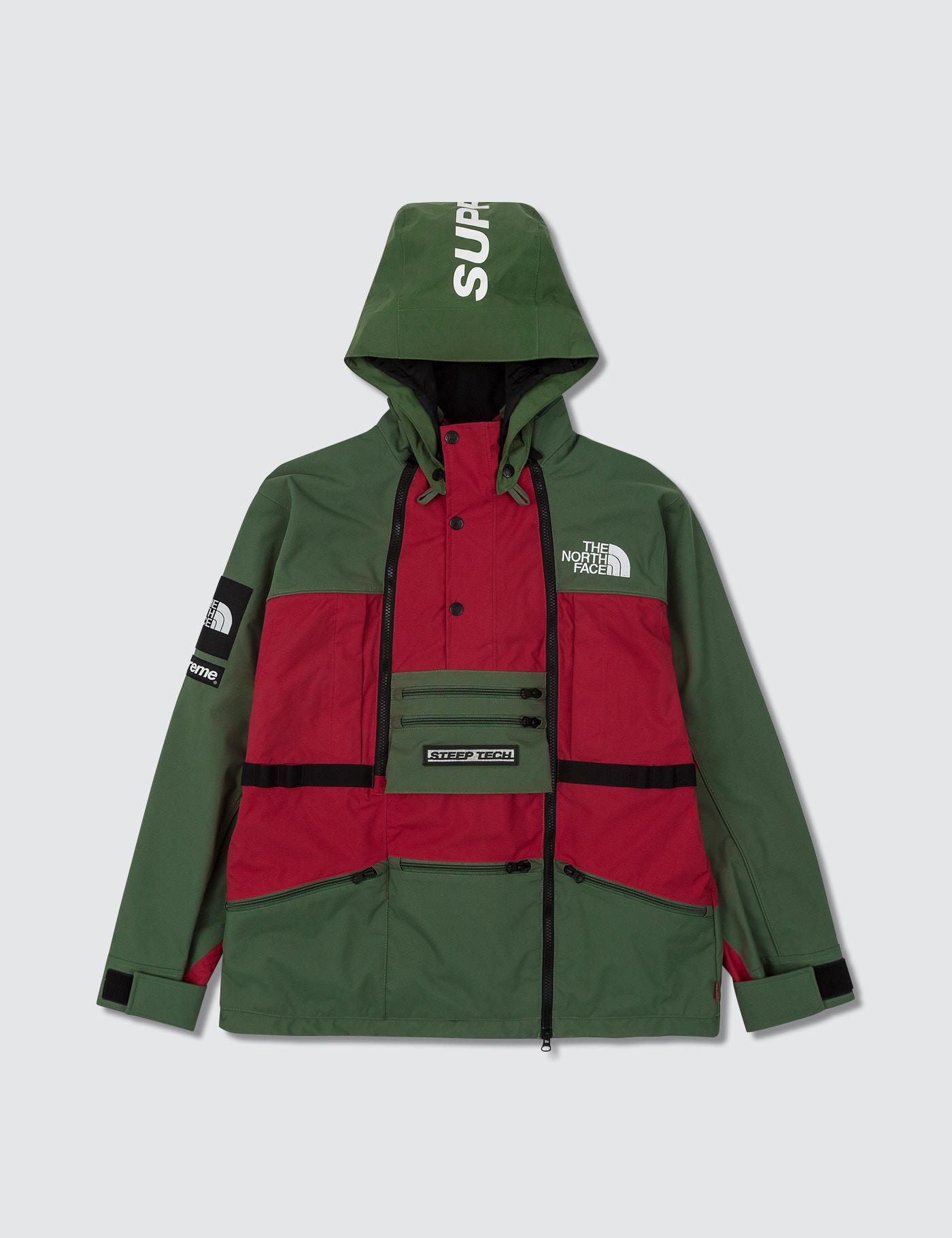 f0f94d29fc Lyst - Supreme X The North Face Steep Tech Hooded Jacket in Green ...