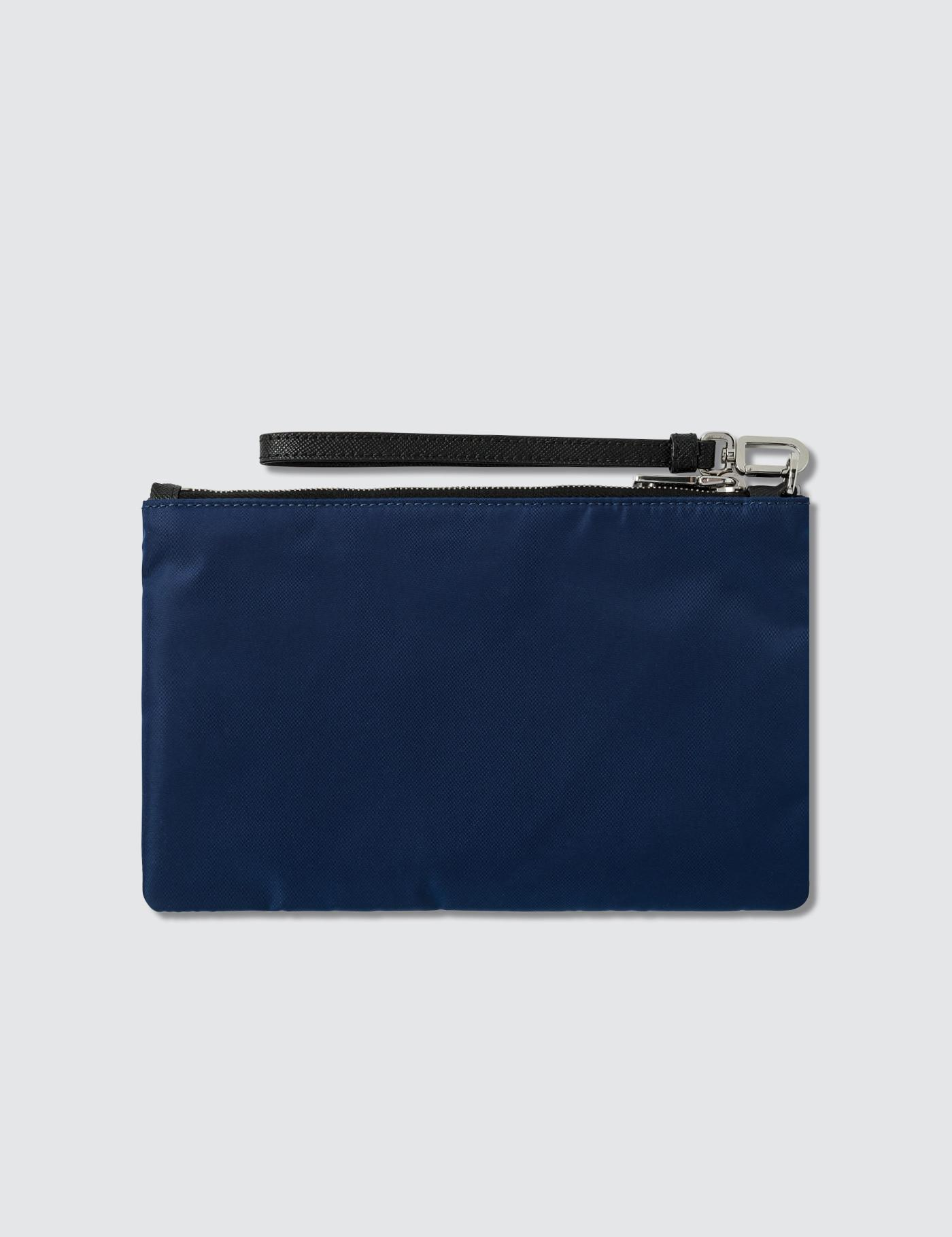 Lyst - Prada Logo Small Pouch in Blue for Men 5273ef8cfc968