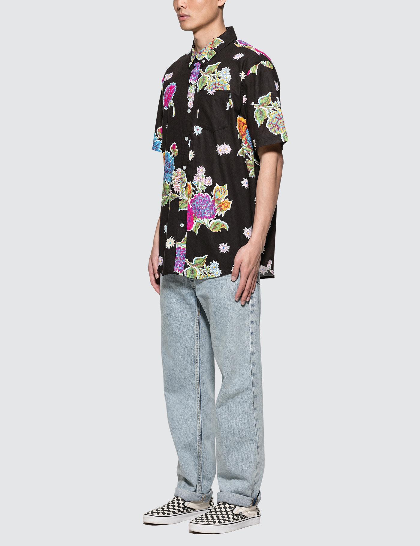 c4c6eac01c8f2 Huf Botanica Floral S/s Shirt in Black for Men - Lyst