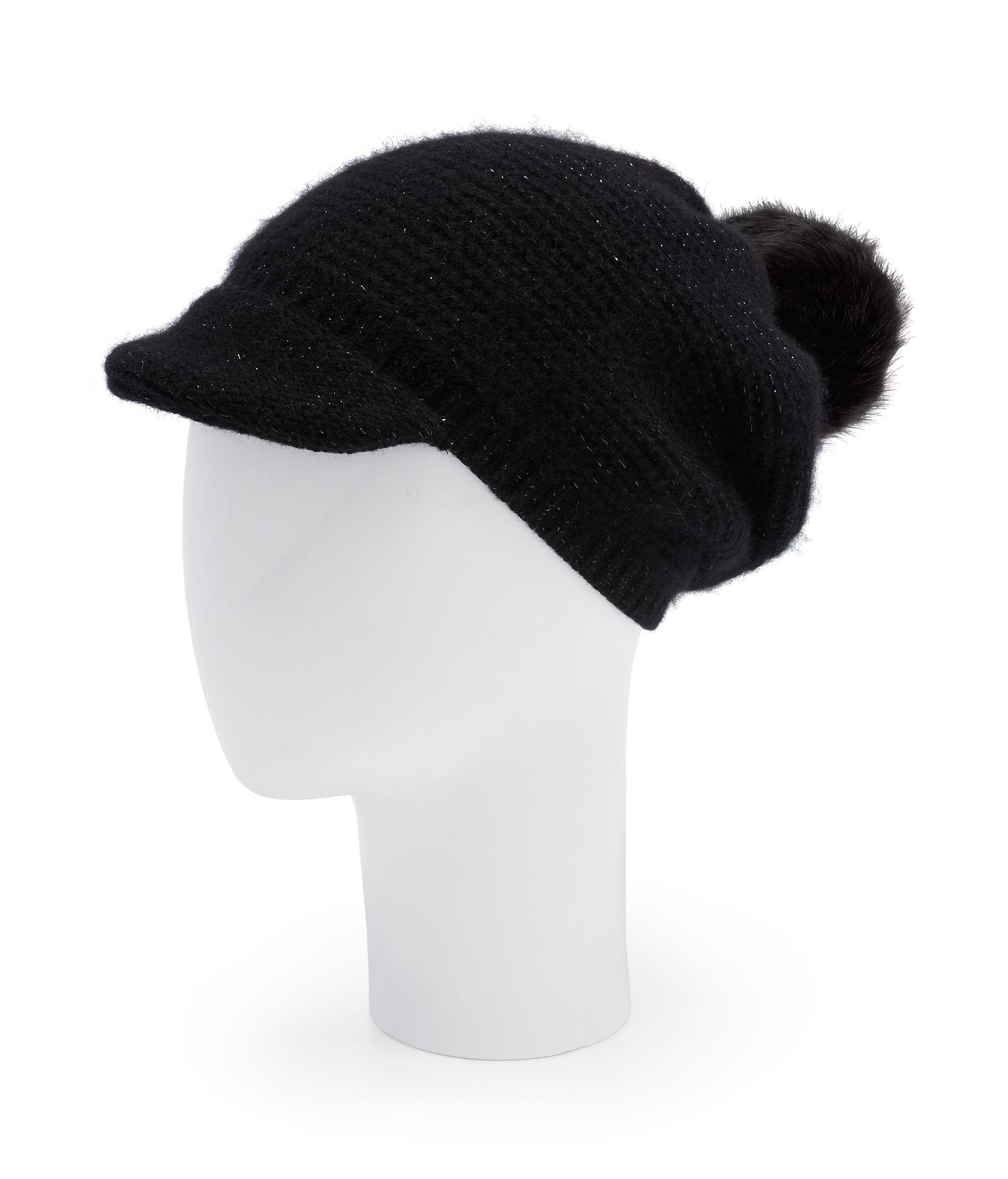 41477bcb2f2 Lyst - Henri Bendel Blake Cashmere Brim Hat in Black
