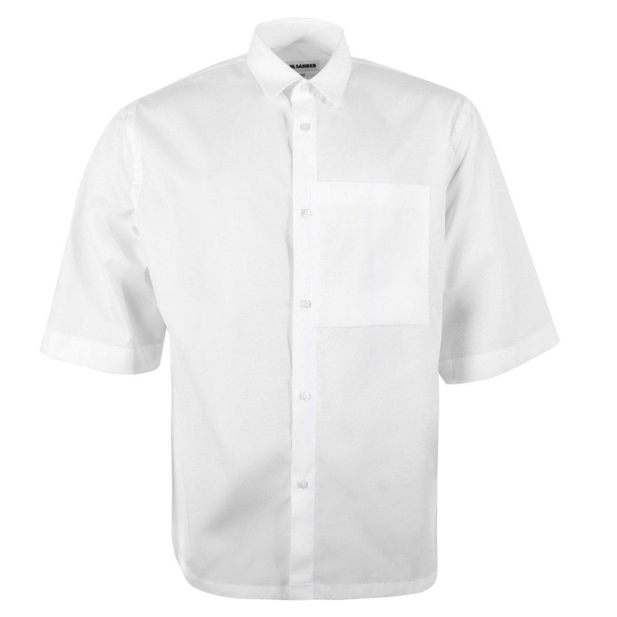705bbf65d72603 Lyst - Jil Sander Jsuo742226 Mo244300 Silence Ff S/s Shirt in White