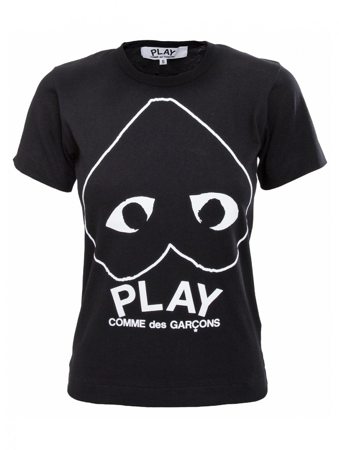 Lyst - Comme des garçons Play Womens Reverse Heart T-shirt Black in Black
