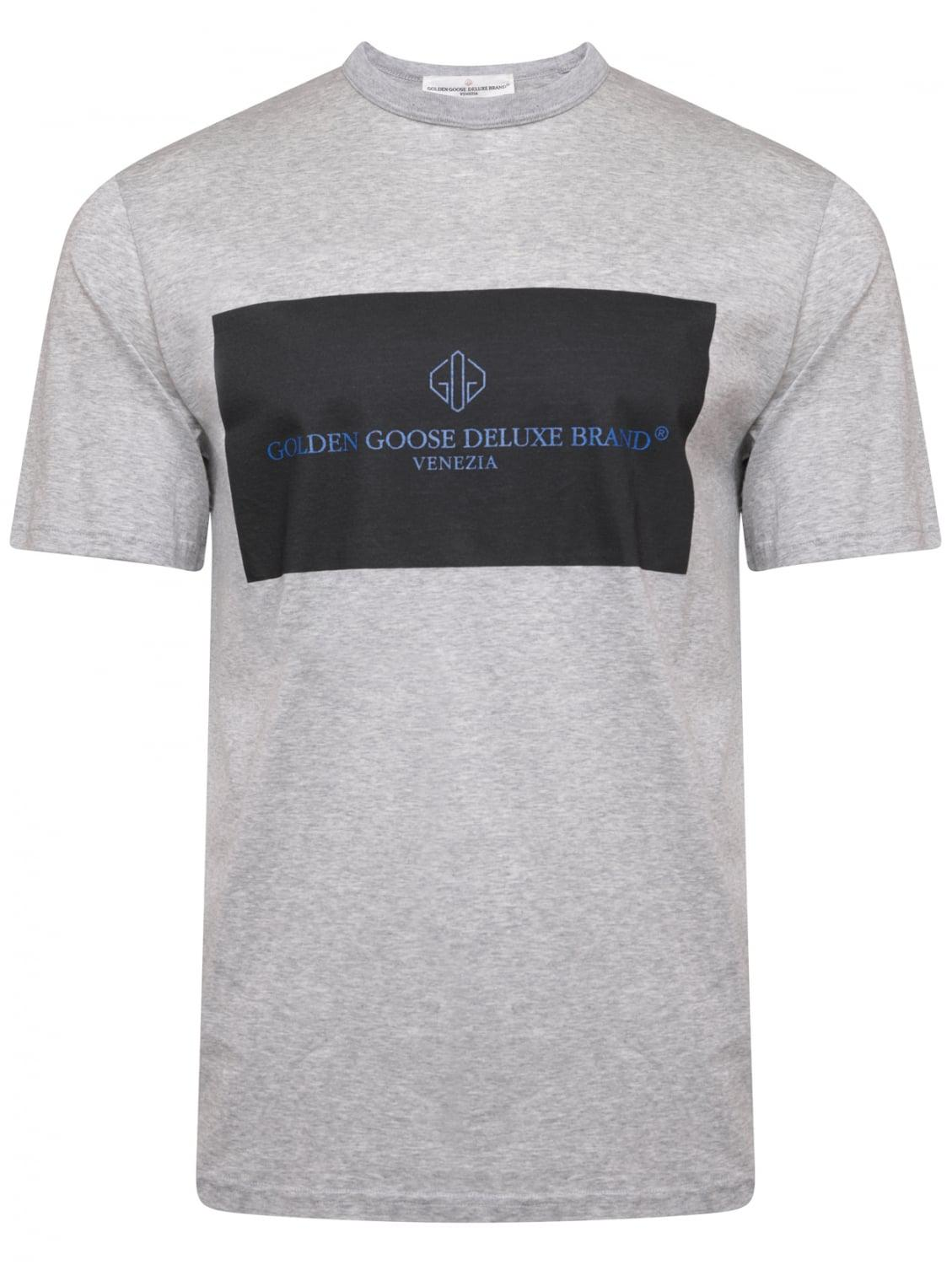 Free Shipping Low Price Golden Goose Deluxe Brand two-tone logo print T-shirt Best Store To Get For Sale veHio9