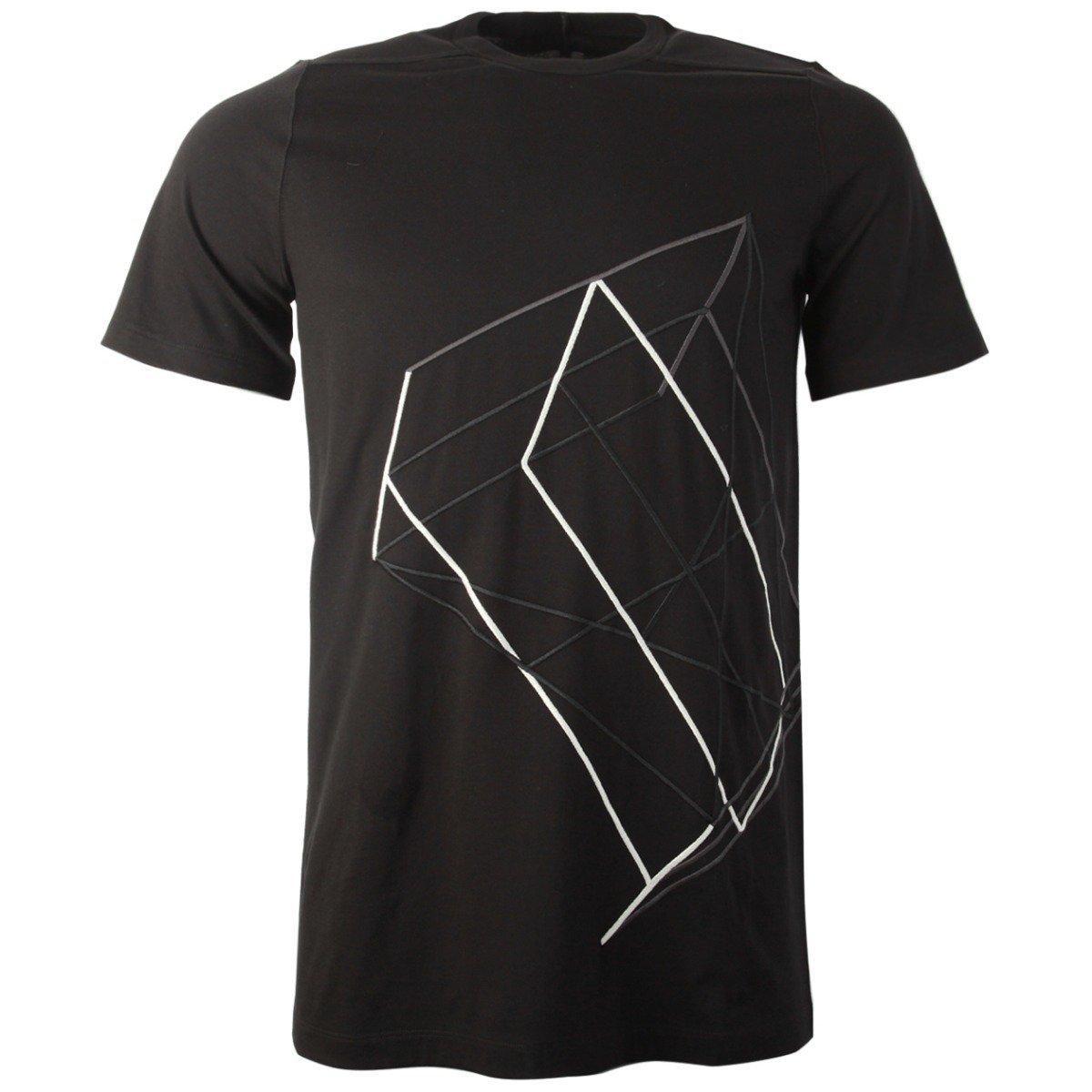 b53eb2ed6 Rick Owens Ru19s2264 Jaem3 09117 Black As Embr Woven Tshirt in Black ...