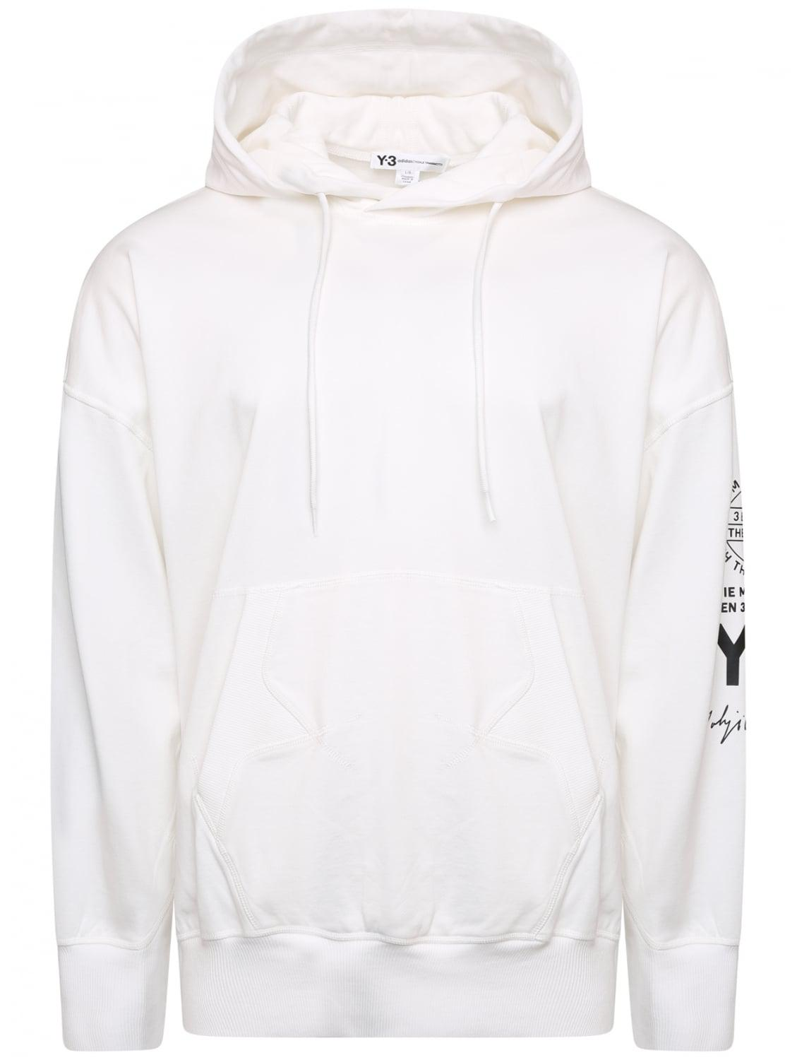 c1004dc7706a Lyst - Y-3 Logo Street Hoodie White in White for Men