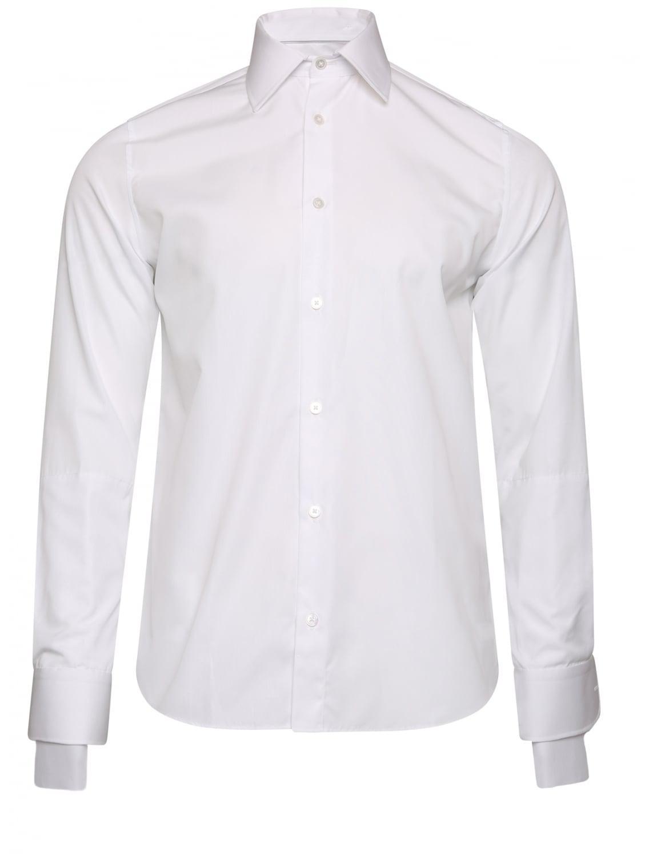 Lyst faith connexion double cuff shirt white in white for Mens white cufflink shirts