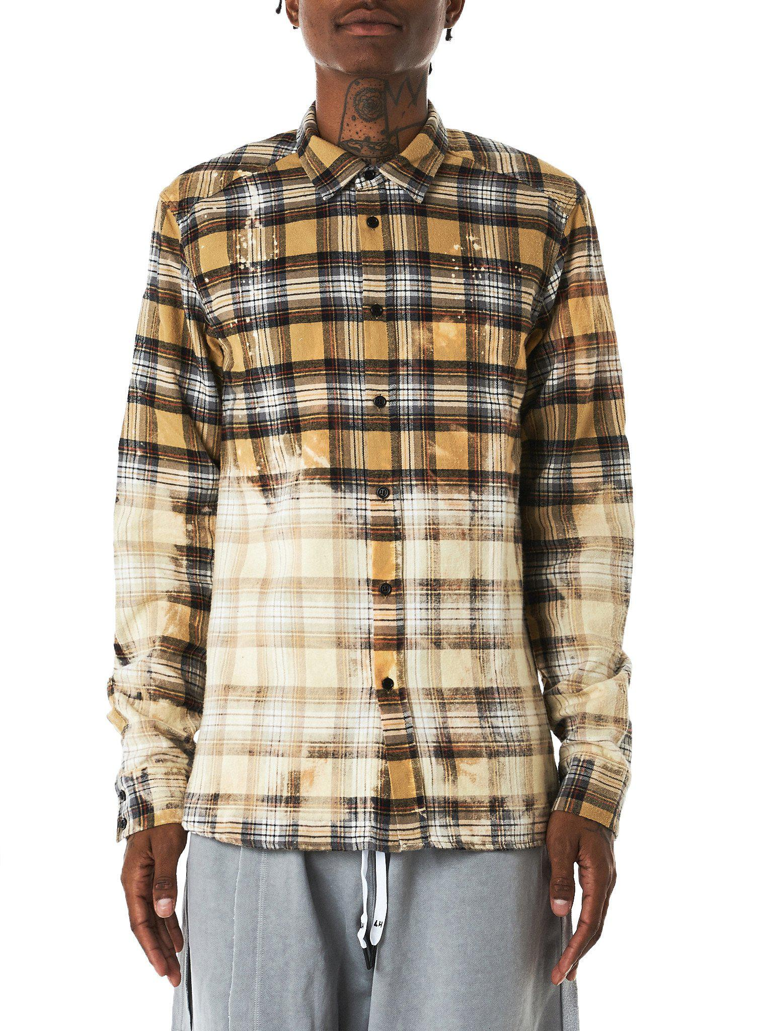 b04bfc58930e Lyst - Faith Connexion Bleached Flannel Shirt in Natural for Men