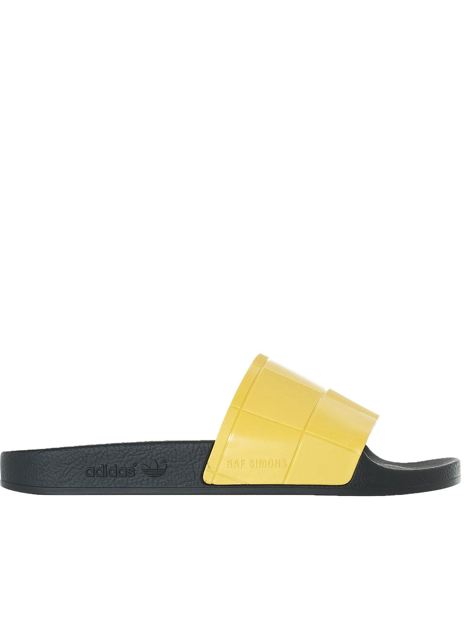 d8c829e64bb ... Yellow Adilette Checkerboard Slides for Men - Lyst. View fullscreen
